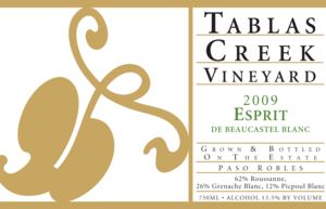 Tablas Creek Esprit de Beaucastel Blanc 2007