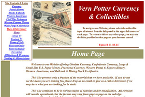 Vern Potter Currency & Collectibles