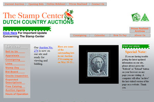 The stamp Center/Dutch Country Auction