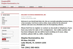 Staples Numismatics, inc.
