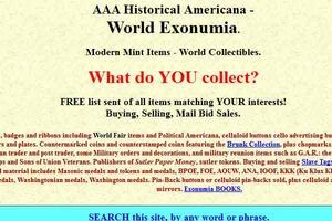 A A A-Historical Americana-World Exonumia