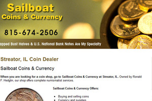Sailboat Coins & Currency