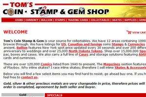 Tom's Coin Stamp Gem BB Comics