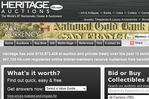 Heritage Currency Auctions of America