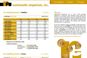 Numismatic Emporium, Inc. Europe
