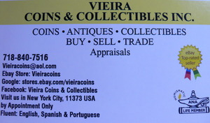 VIEIRA COINS & COLLECTIBLES INC