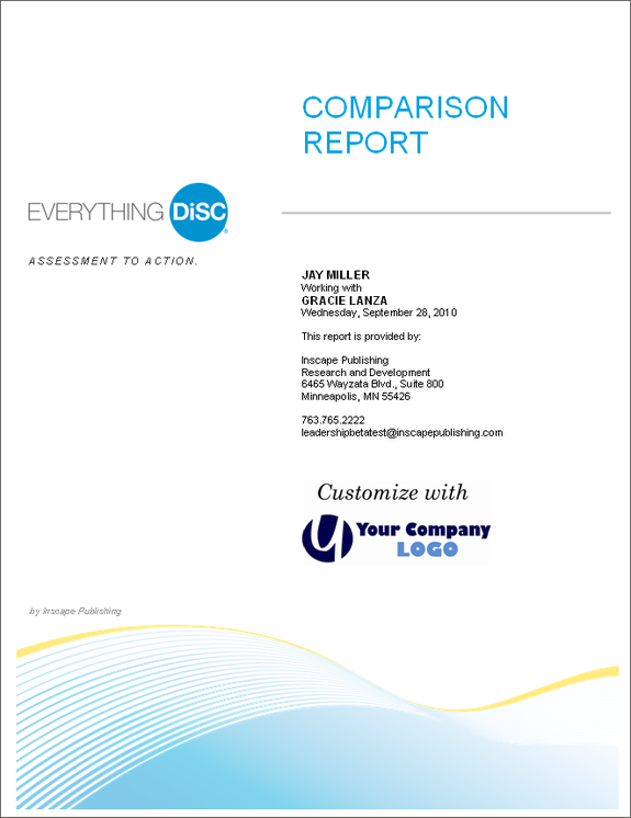 Everything DiSC Comparison Report; EPIC Assessment; Online Workplace Assessment