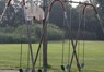 Close up of swings