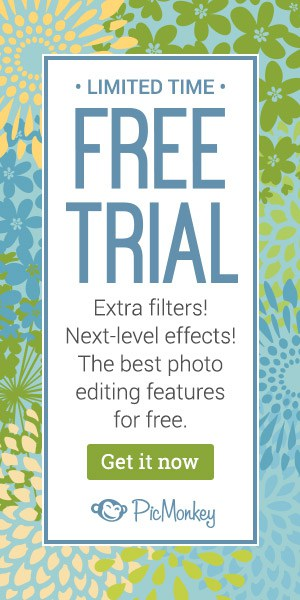 picmonkey free trial side banner