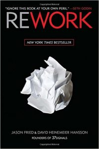 "Cover of ""Rework"" by Jason Fried"