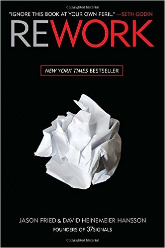 """Cover of """"Rework"""" by Jason Fried"""