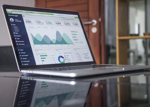 Screenshot of digital analytics