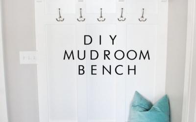 DIY Mudroom bench with storage