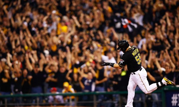 Russell-Martin-pittsburgh-pirates-cincinnati-reds-playoffs-pnc-park-home-run-johnny-cueto