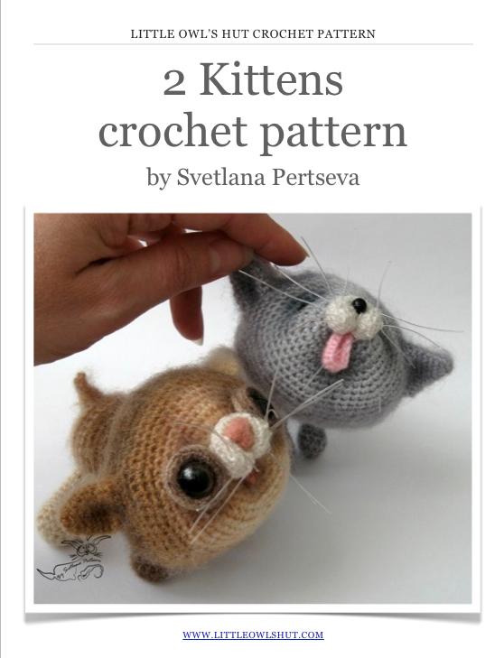 2 Kittens Crochet Pattern Digital Media Initiatives