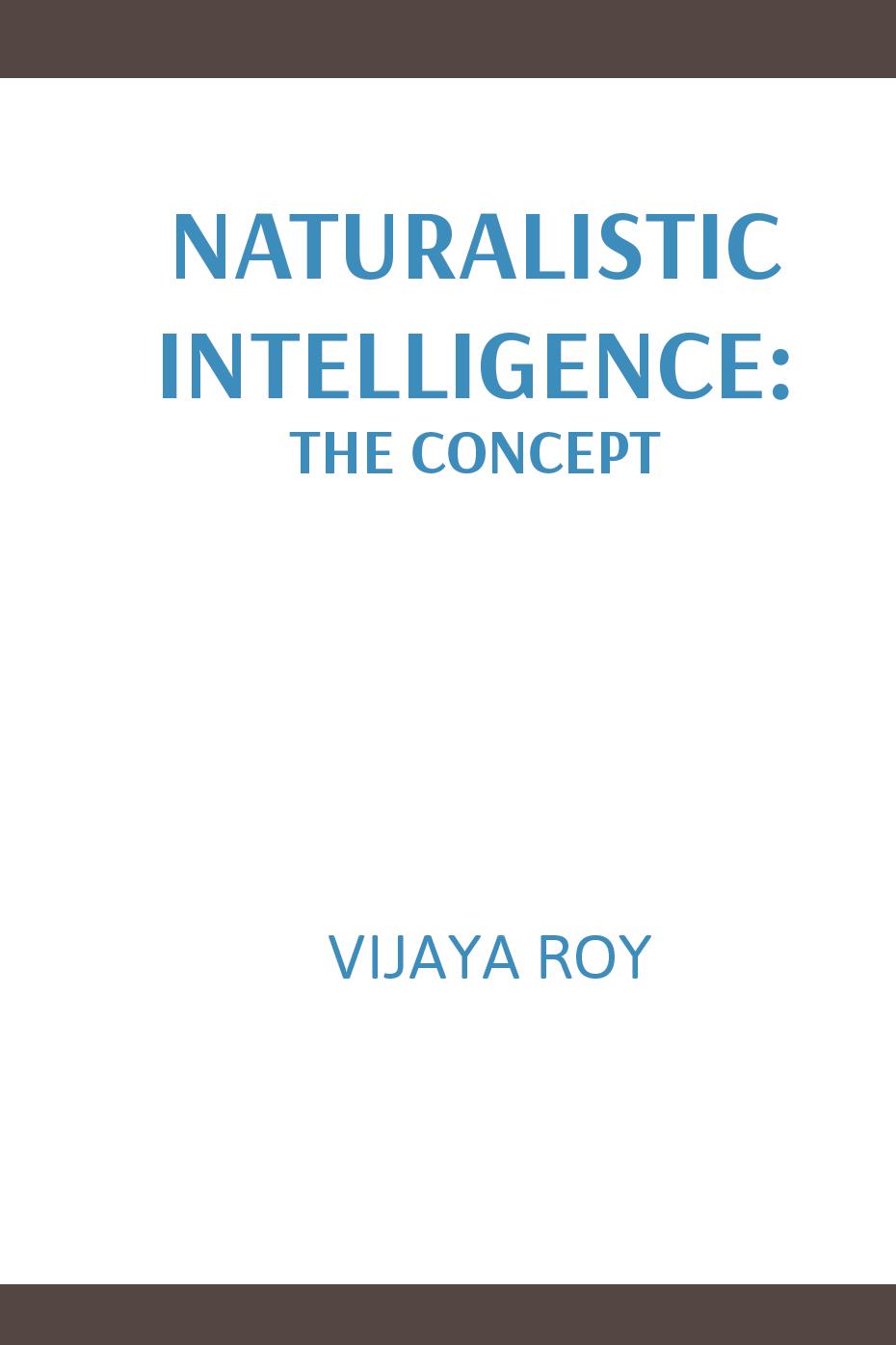 Naturalistic Intelligence: The Concept   Digital Media ...