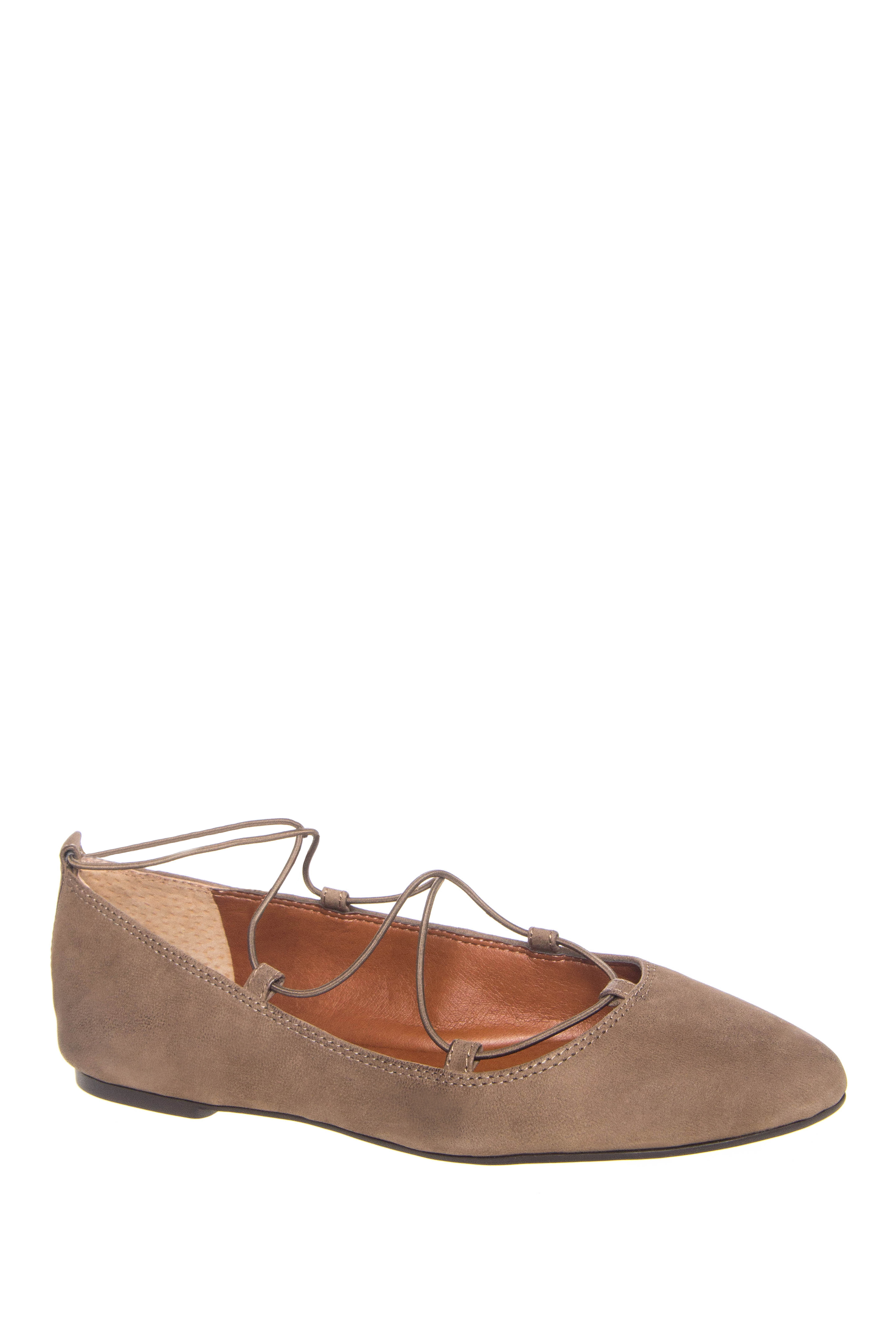 Lucky Aviee Lace Up Flats - Brindle
