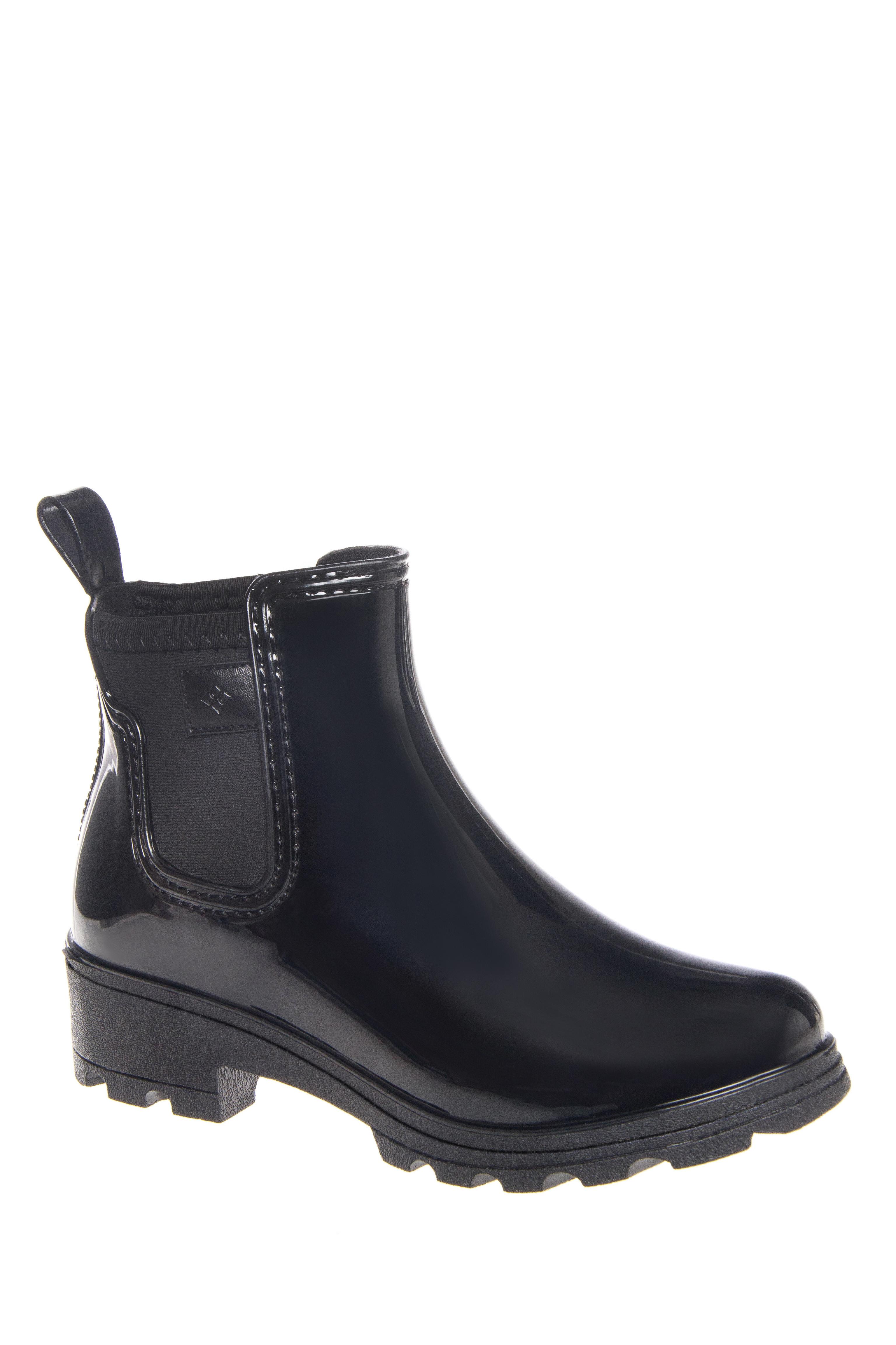 Dav Prague Mid Heel Ankle Rain Boot