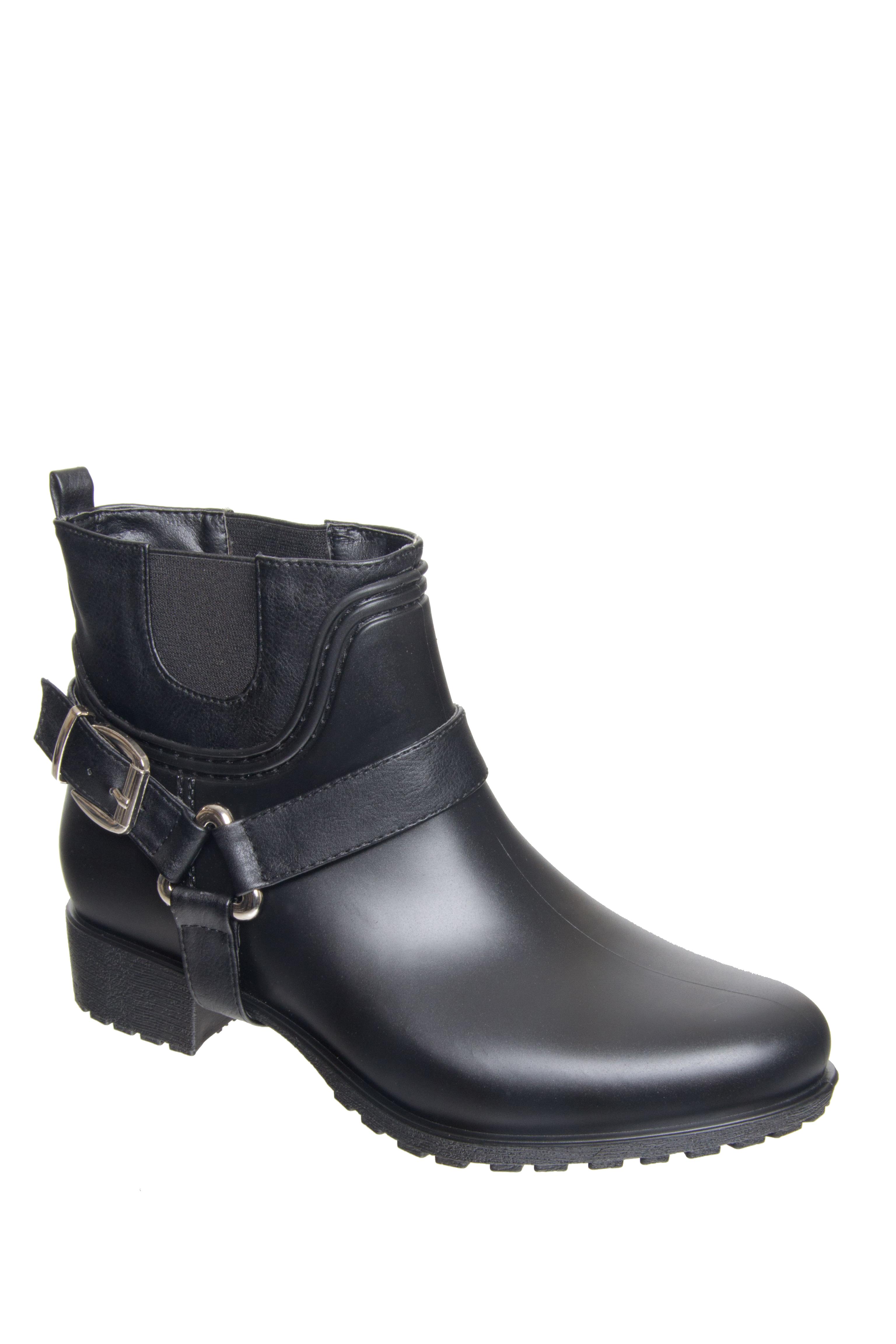 dav Rue Mid Heel Rain Boots - Black