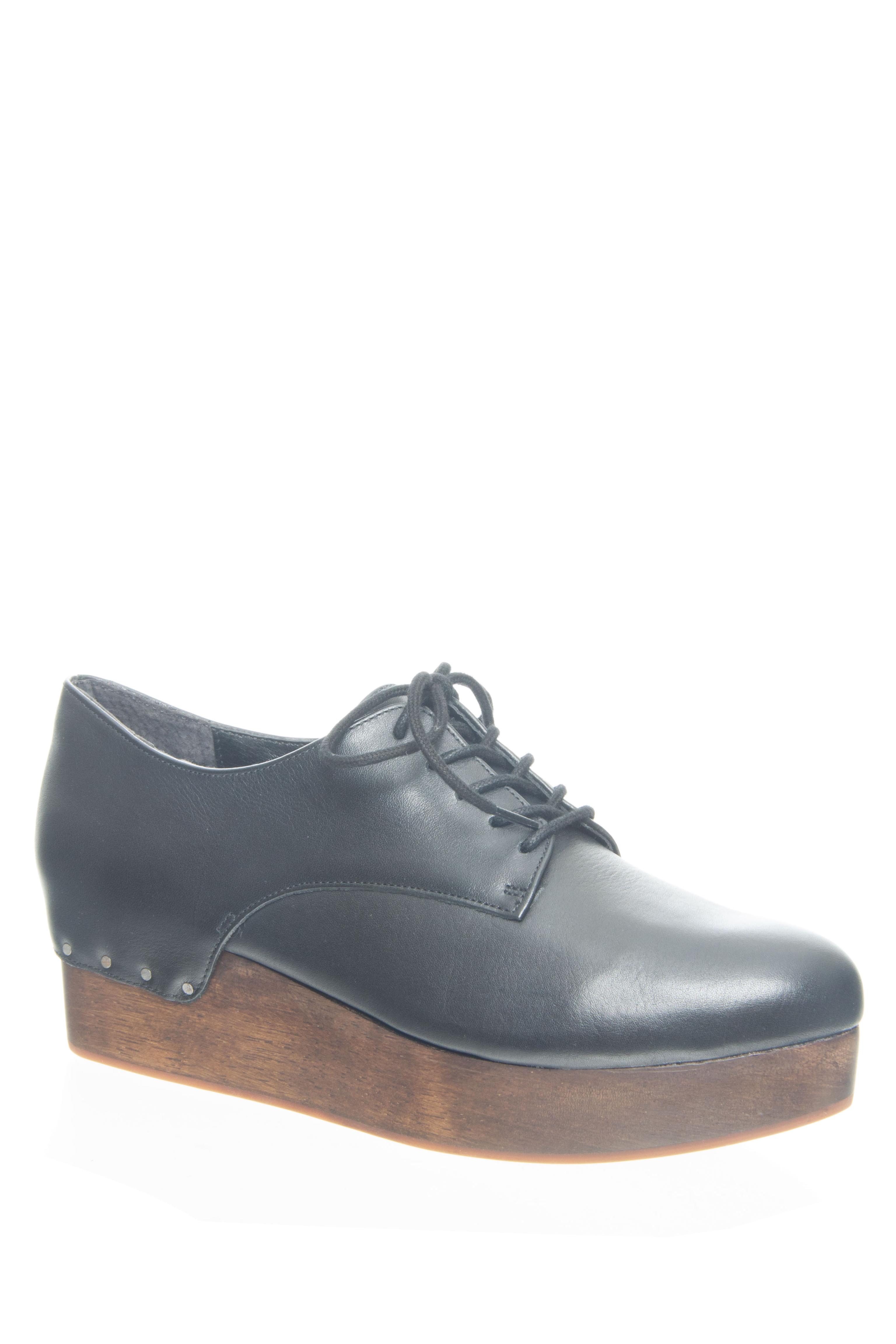 Kelsi Dagger Jamie Platform Wedge Oxford - Black