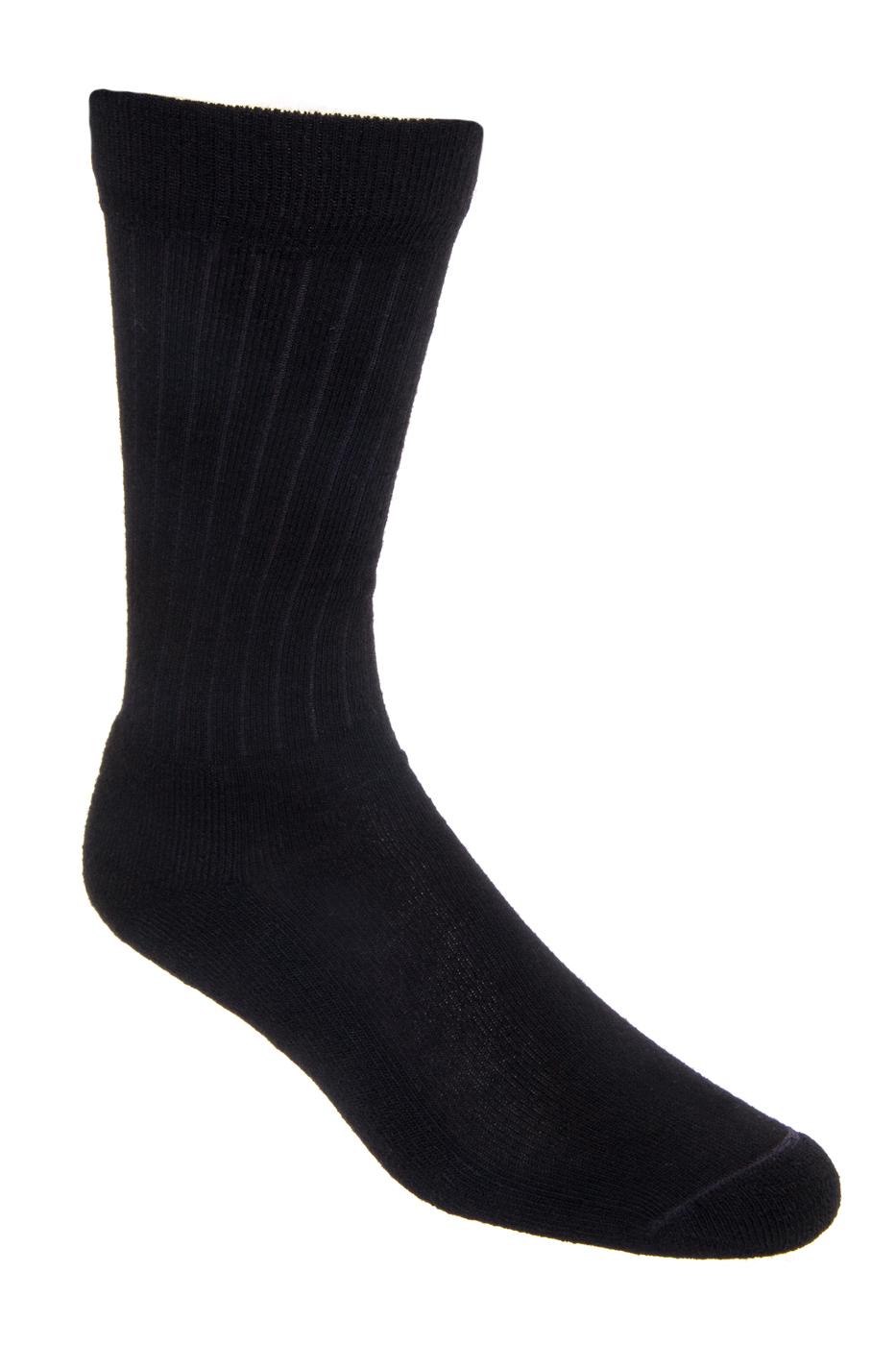 Red Wing Men's Classic Rib 97161 Sock - Black 0014-043-BLACK-01