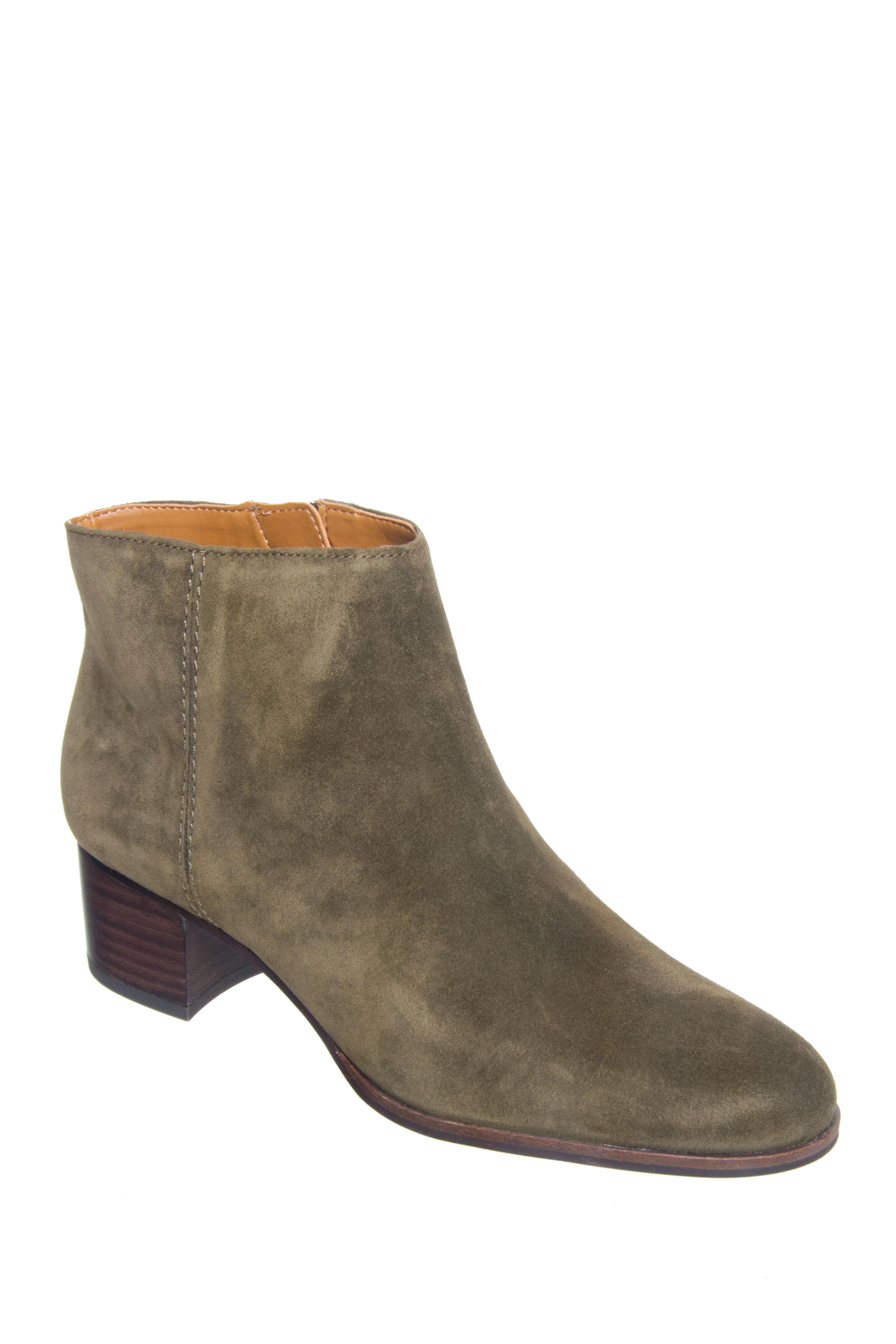 Franco Sarto Catina Mid Heel Booties - Olive