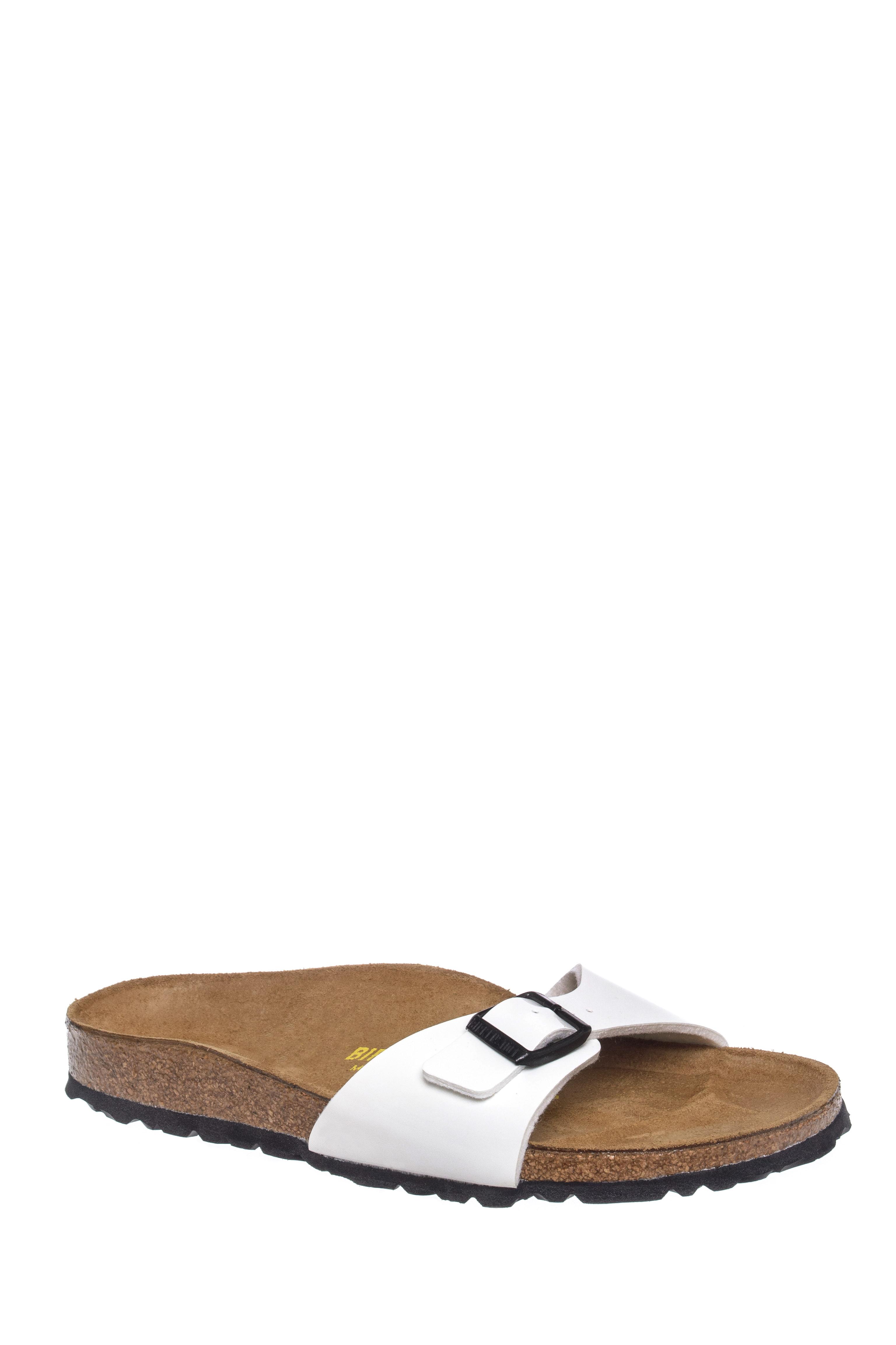 Birkenstock Madrid Slide Flats Sandals -  White