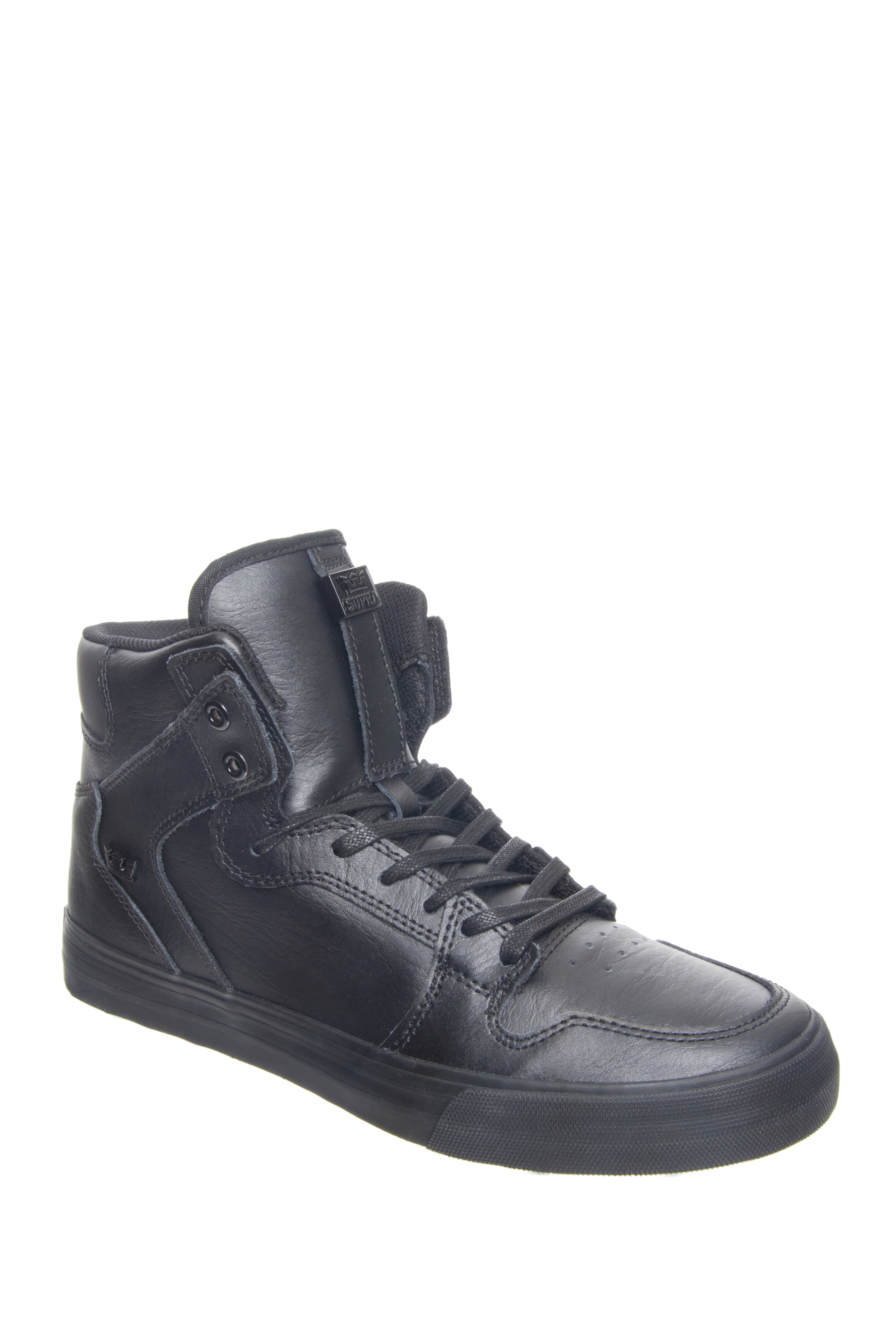 Supra Vaider Classic High Top Sneakers - Black / Black-Red