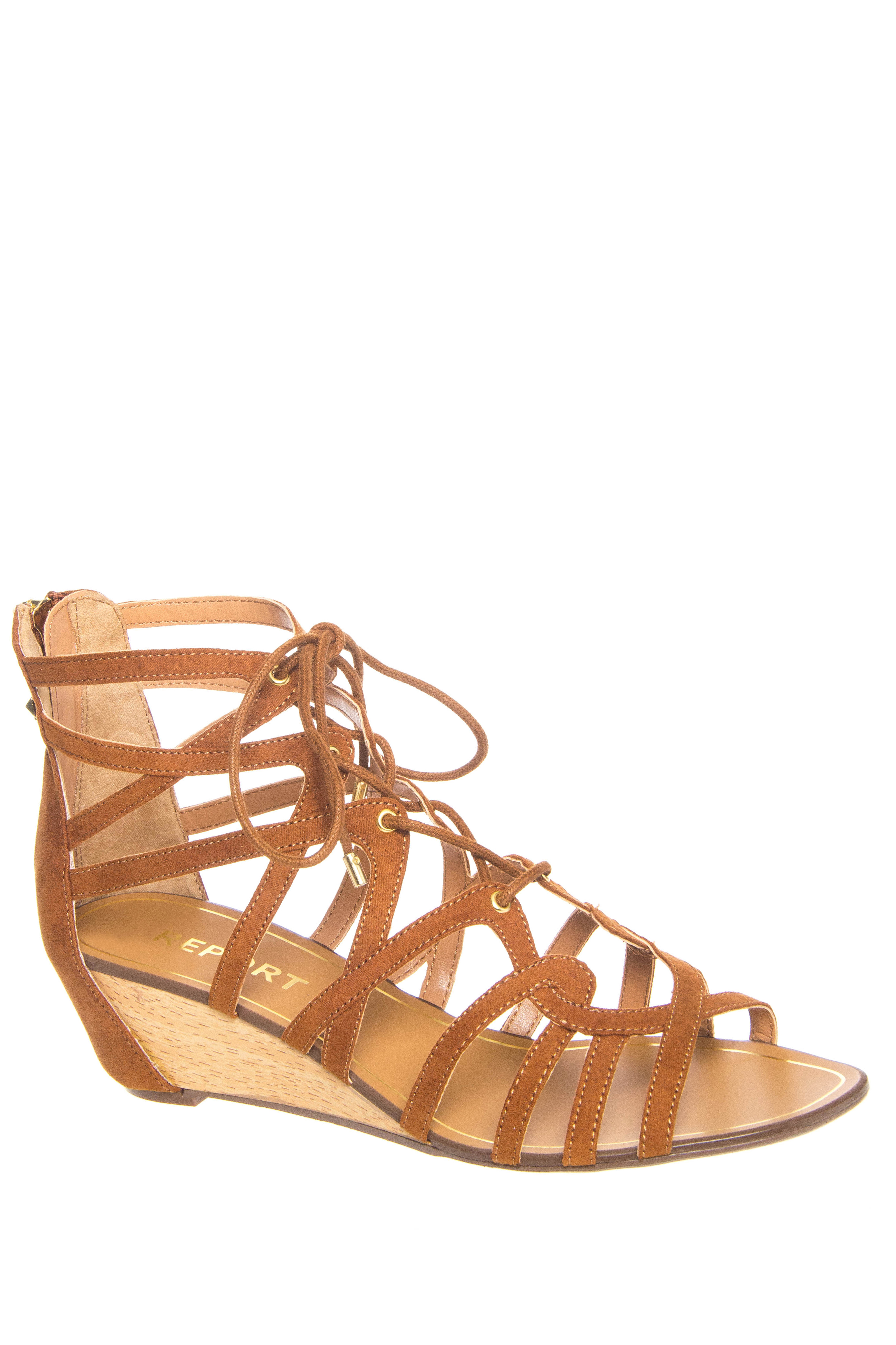 Report Mindiee Mid Wedge Gladiator Sandals