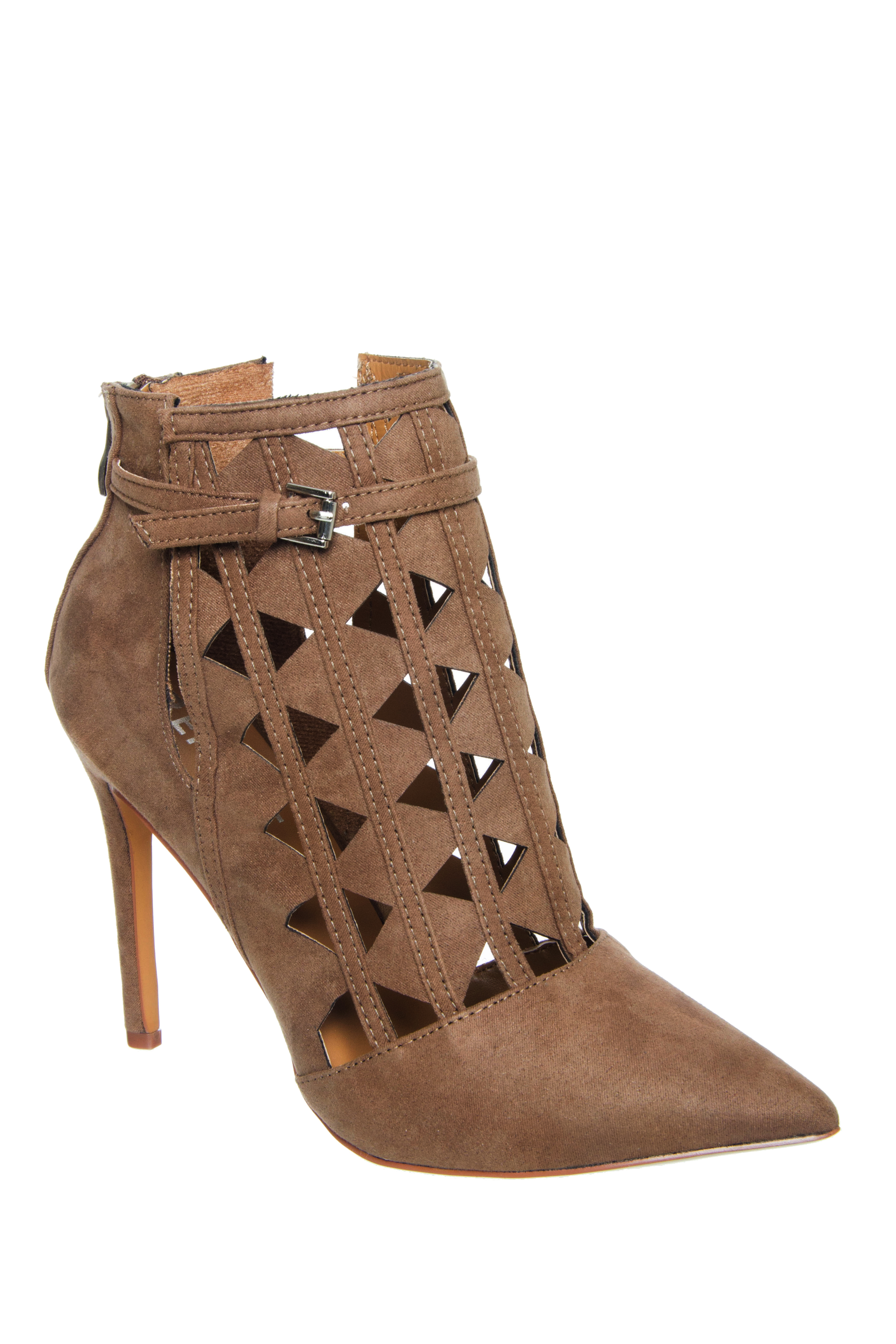 Report Fleure Cut Out Heels - Taupe