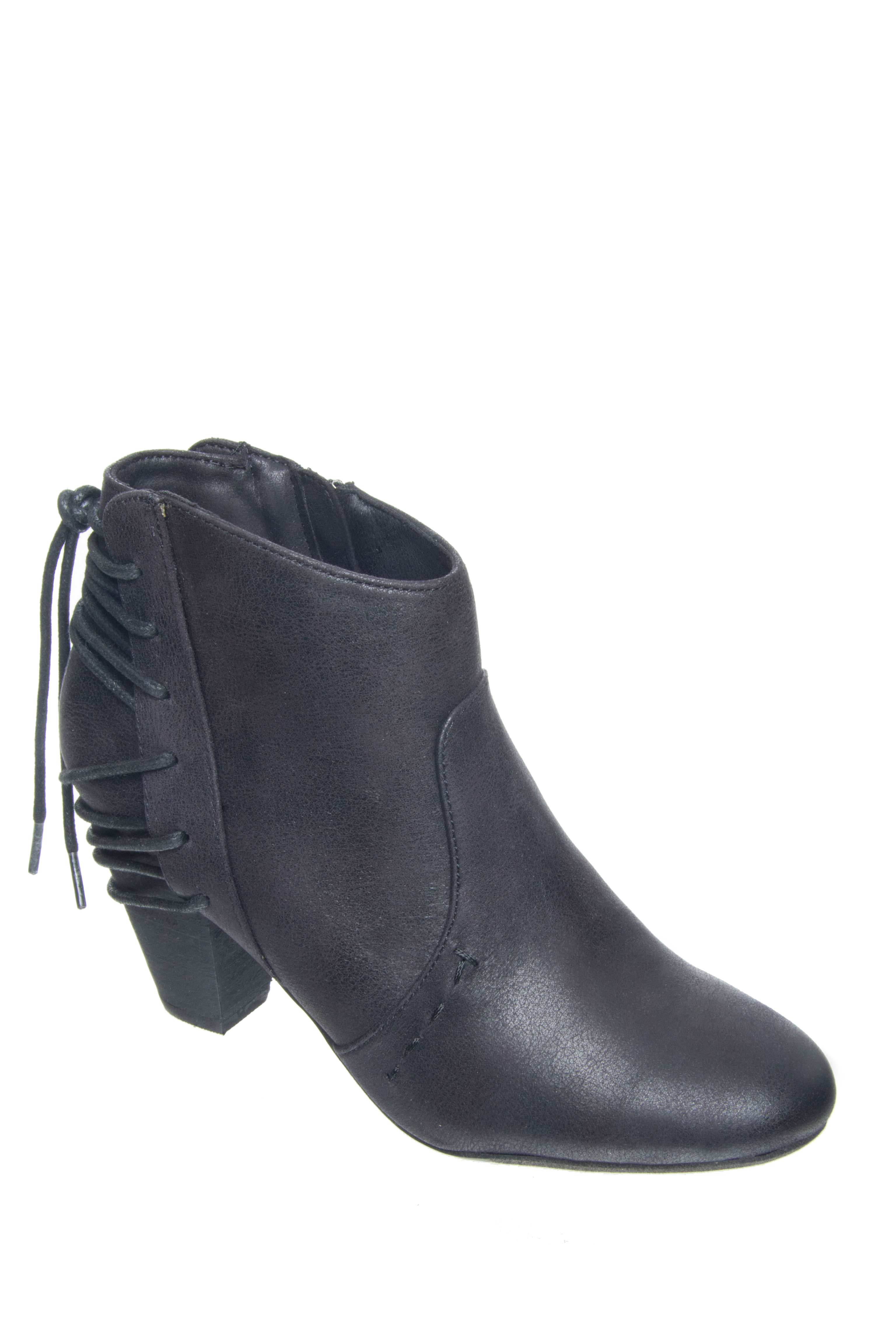 Report Milla Back Lace Booties - Black