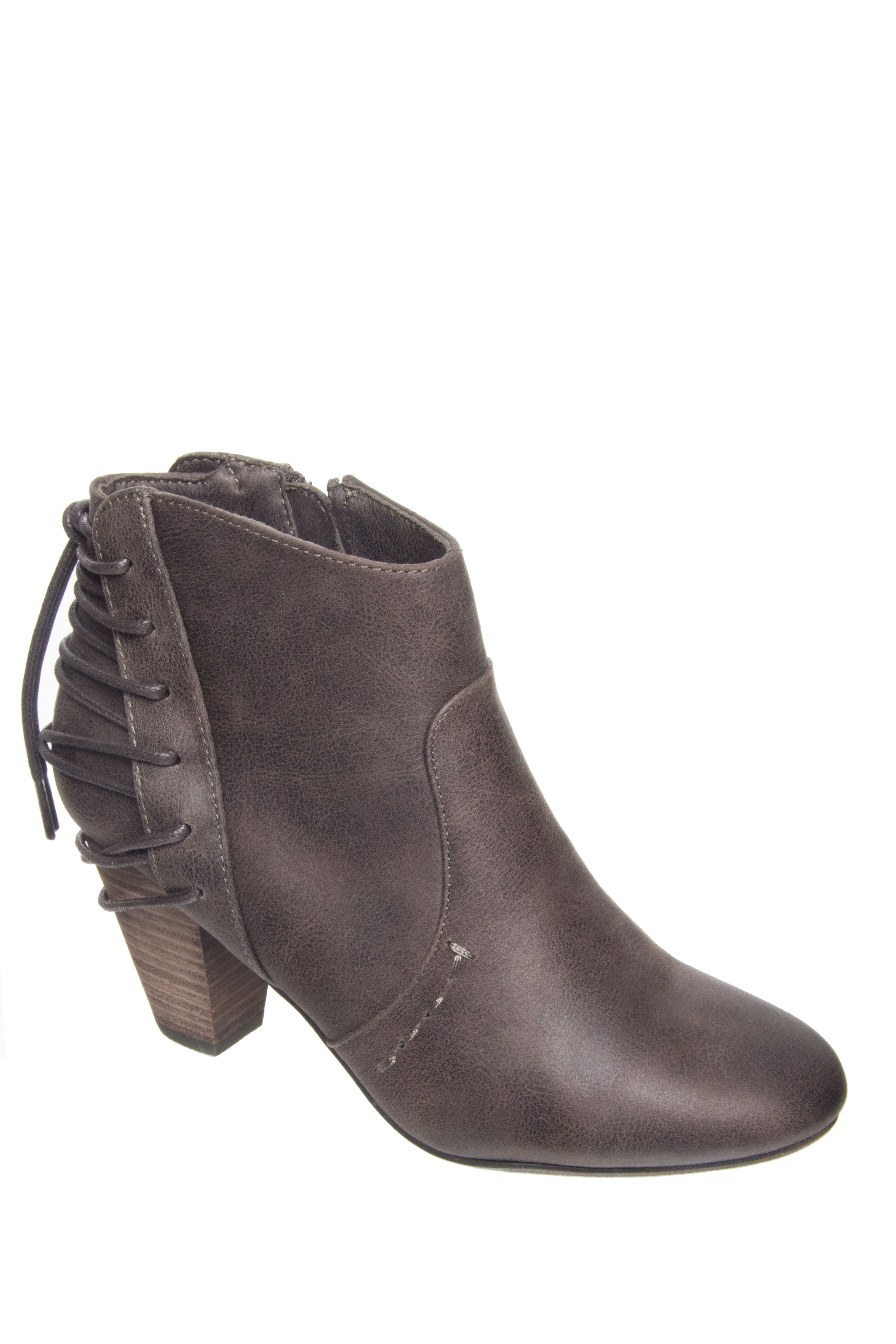 Report Milla Back Lace Booties - Brown
