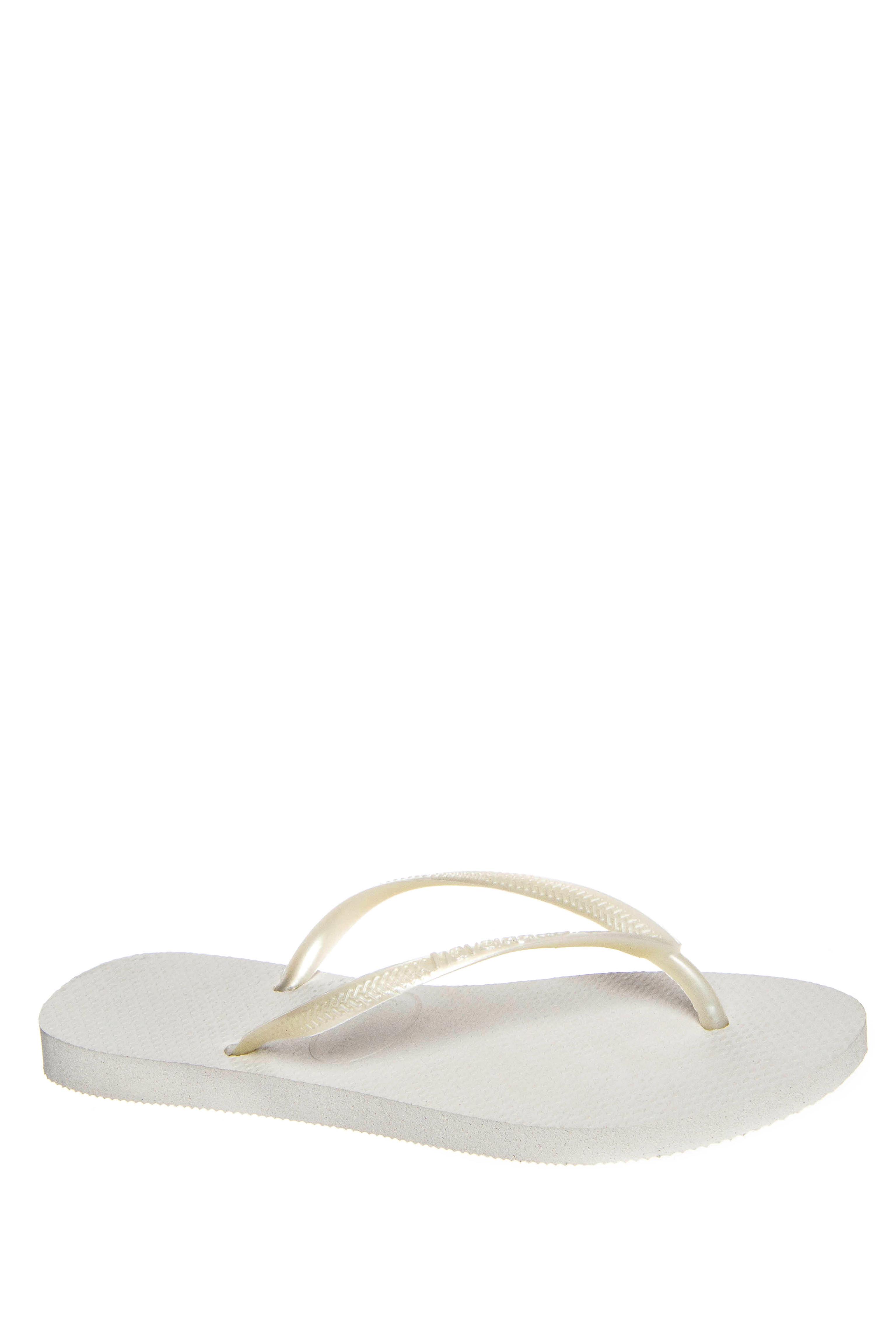 Havaianas Slim Solid Flip Flops - White