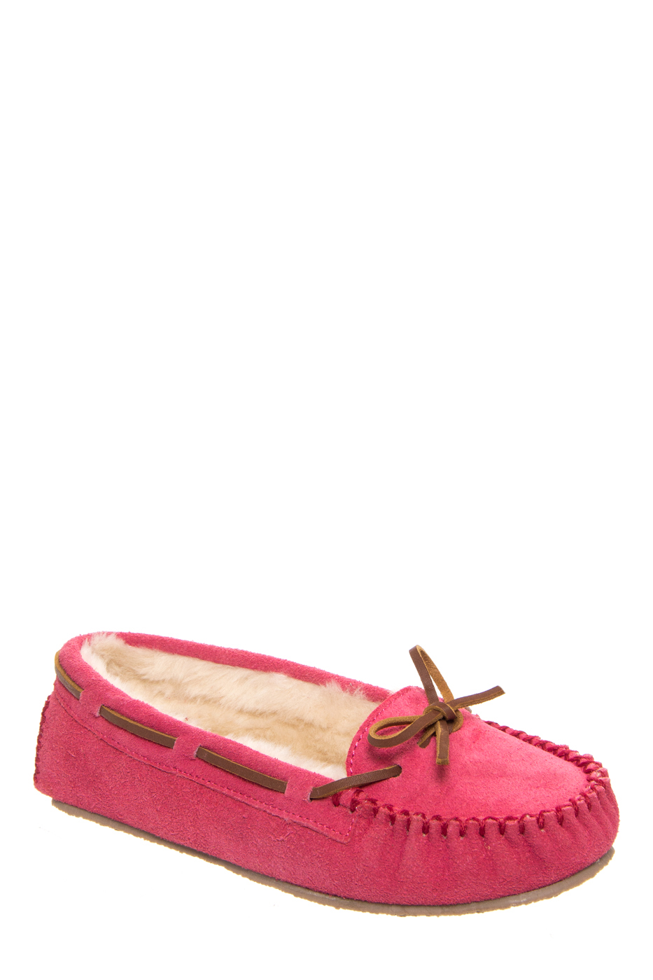 Minnetonka Cally Slipper Moccasins - Hot Pink