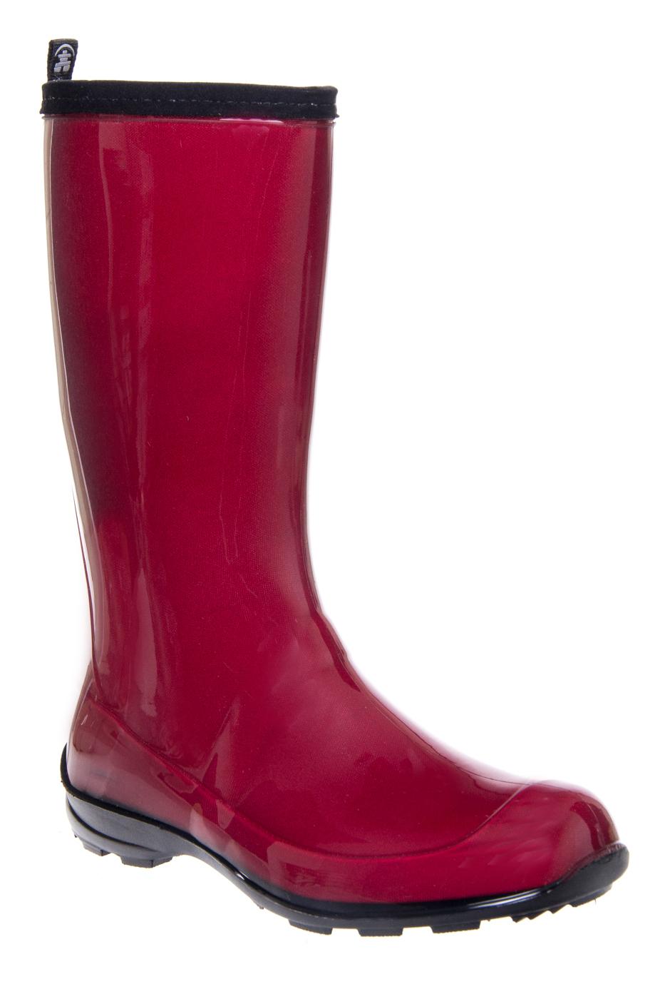 KAMIK Heidi Tall Lug Sole Rain Boots  - Red