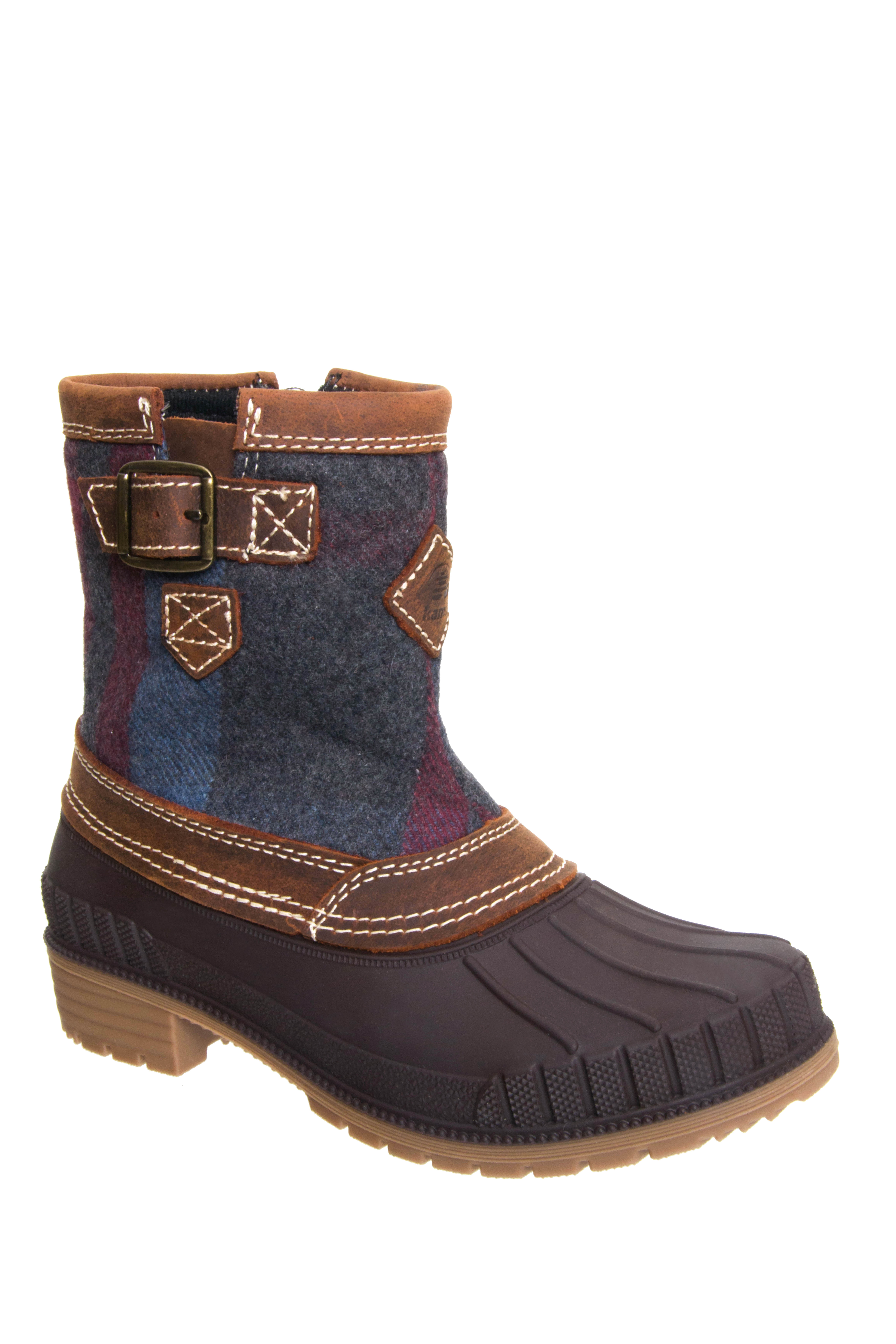 Kamik Avelle Low Heel Snow Boots - Dark Brown