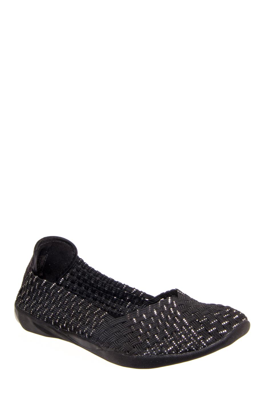Bernie Mev Catwalk Comfort Flats - Black / Silver