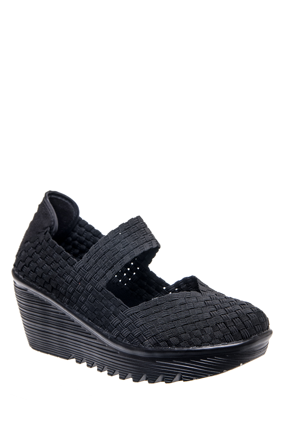 BERNIE MEV Lulia Mid Wedge Heels - Black