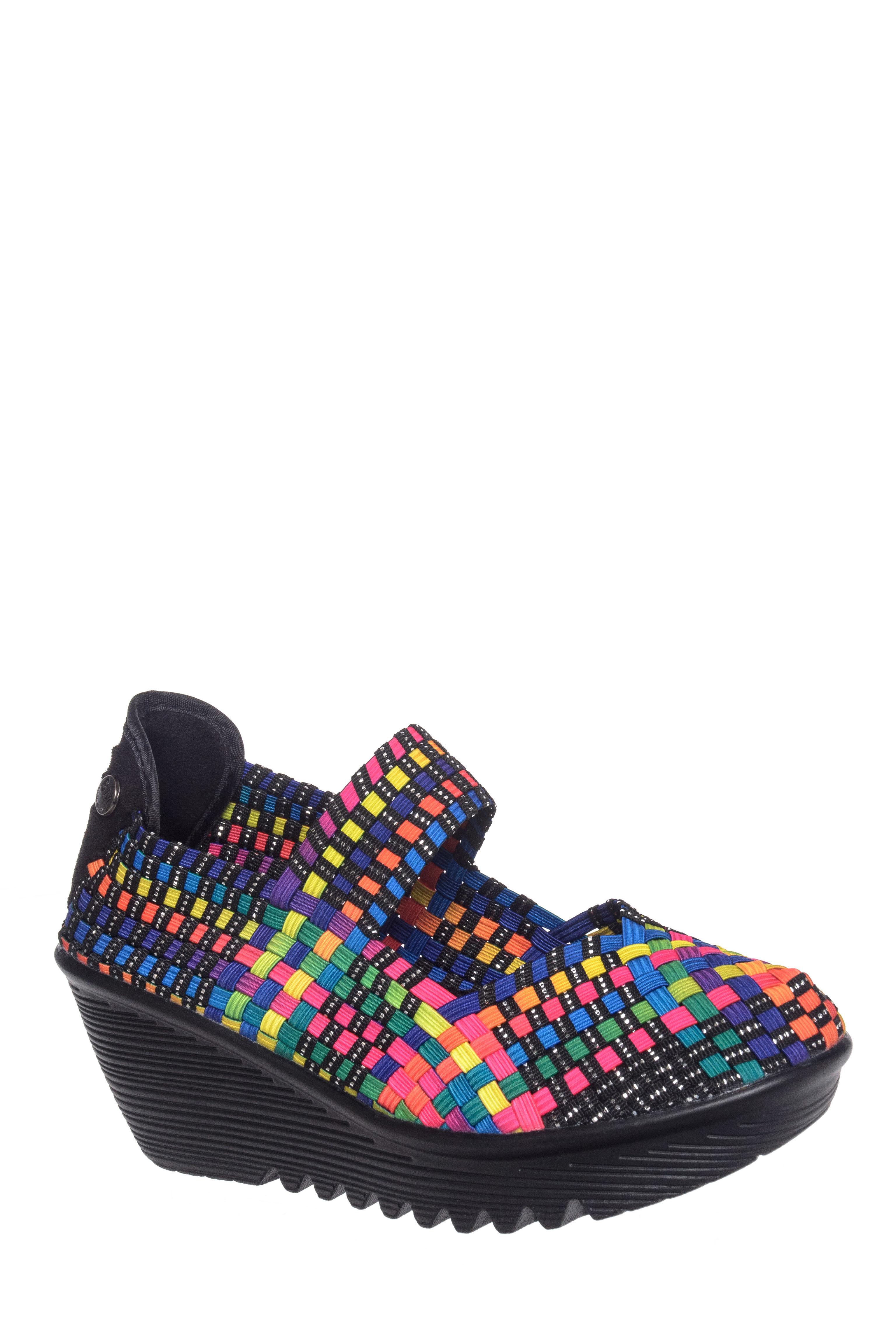 BERNIE MEV Lulia Mid Wedge Heels - Multicolor Black