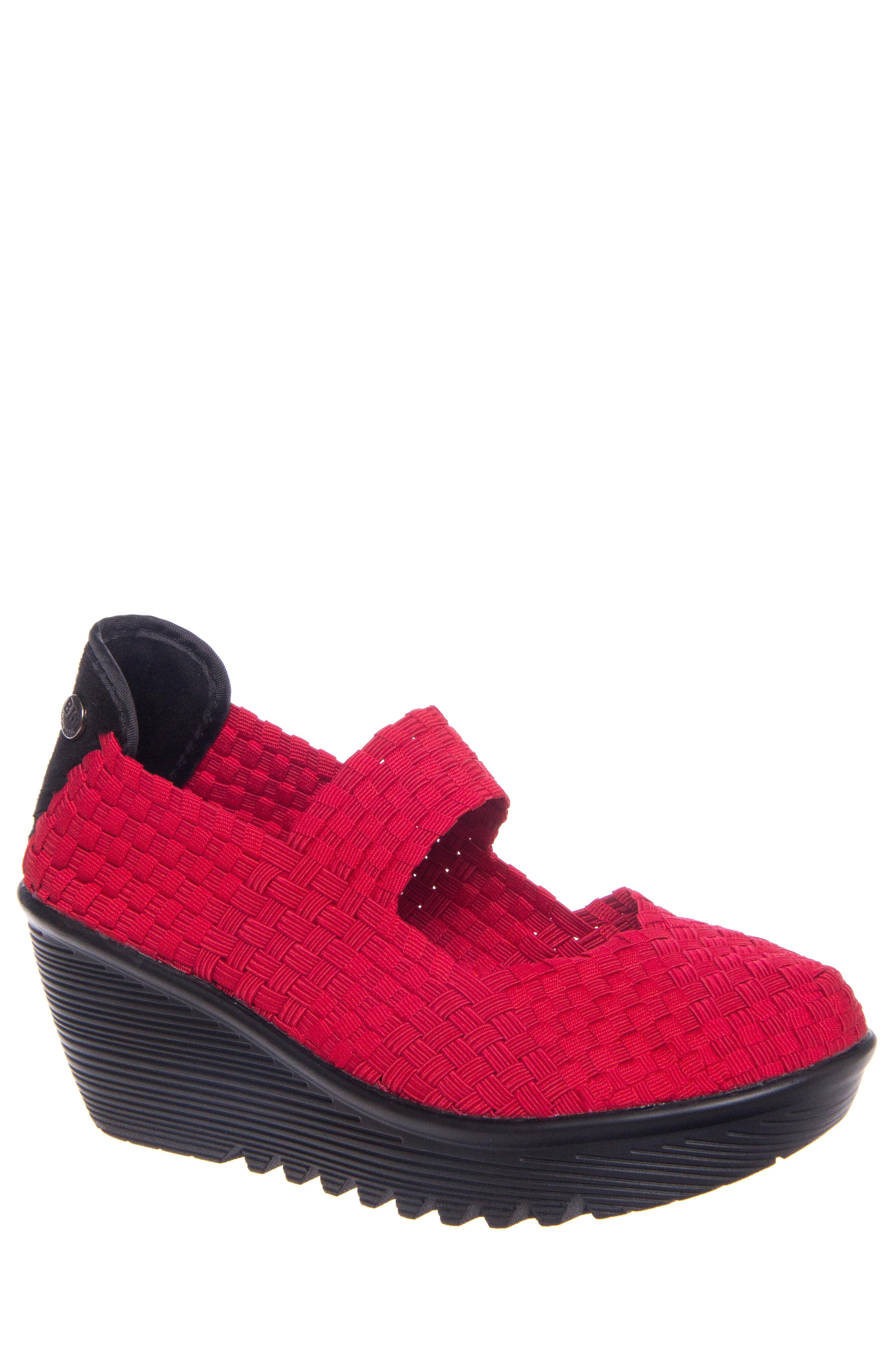 BERNIE MEV Lulia Mid Wedge Heels - Red