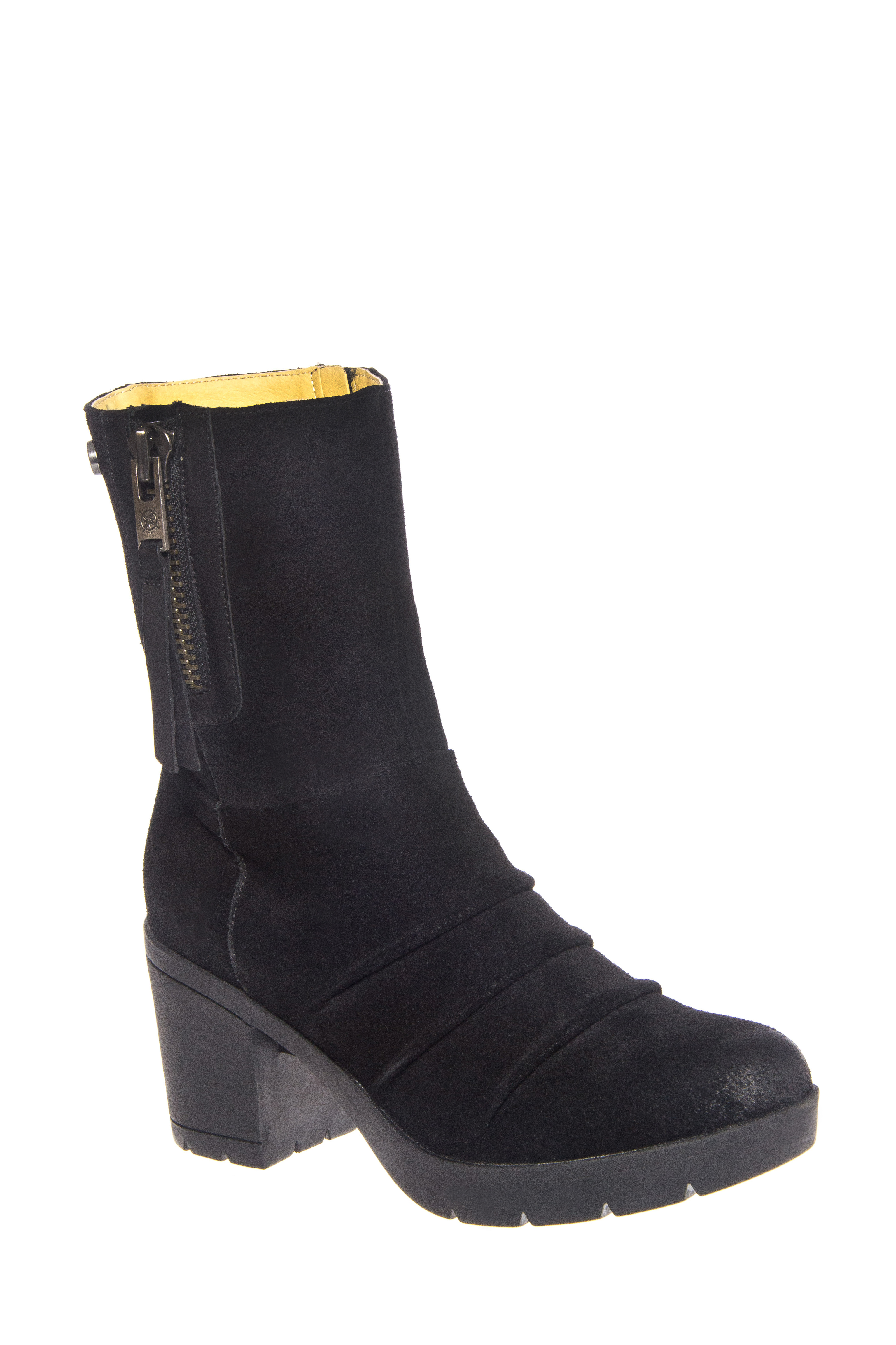 Bussola Bucharest 1548 Mid Heel Boots - Black