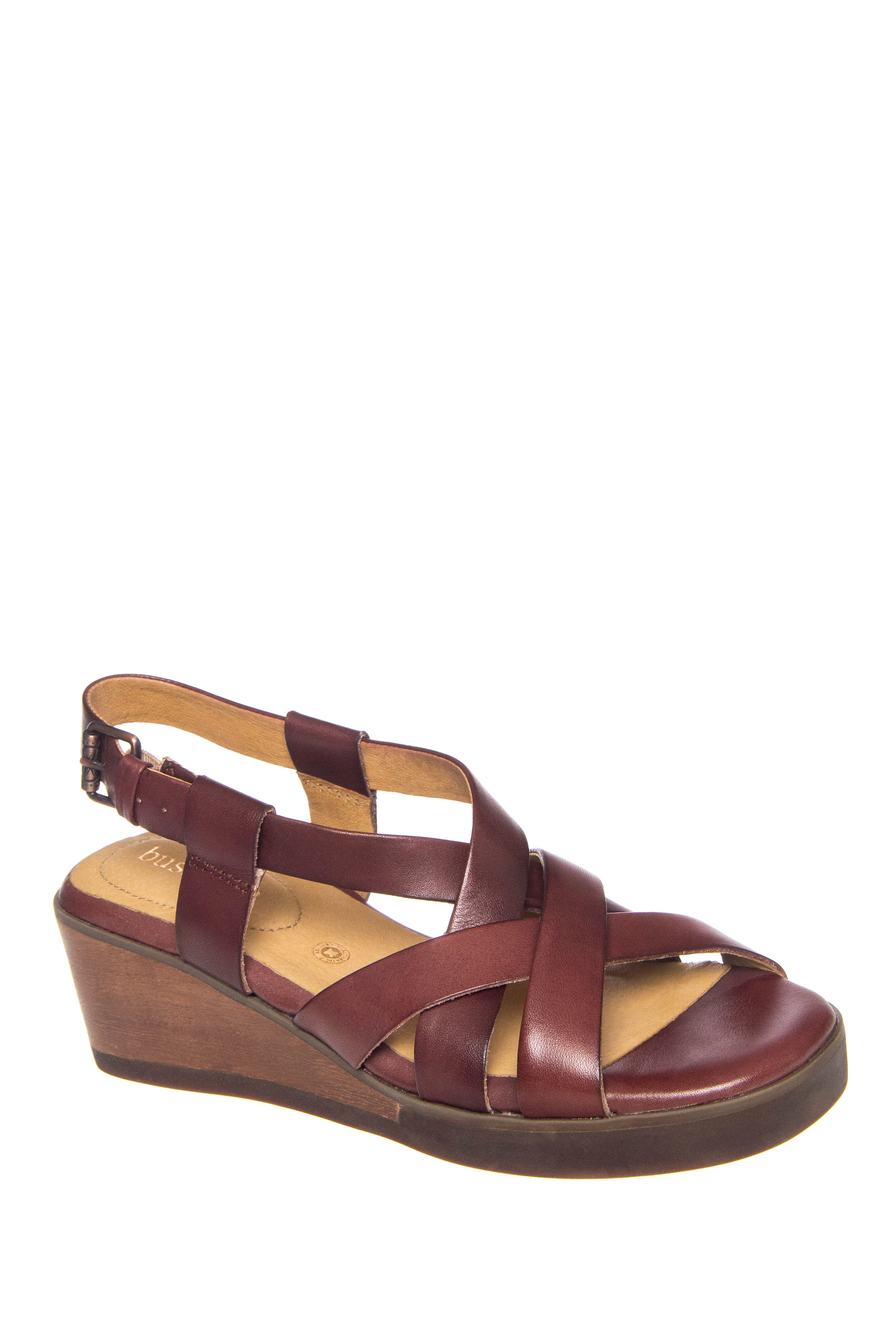 Bussola Massa Mid Wedge Sandals - Corten