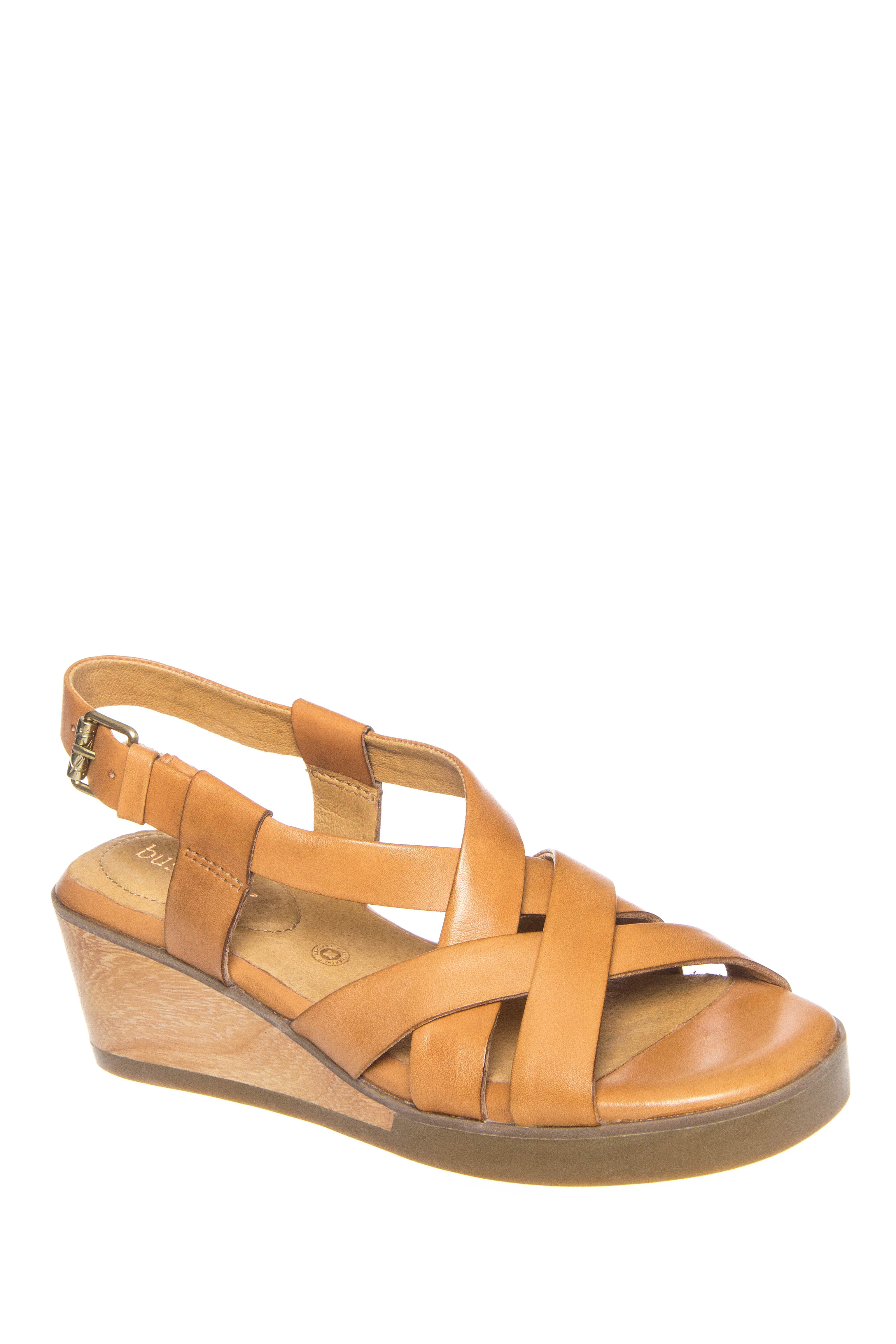 Bussola Massa Mid Wedge Sandals - Toffee