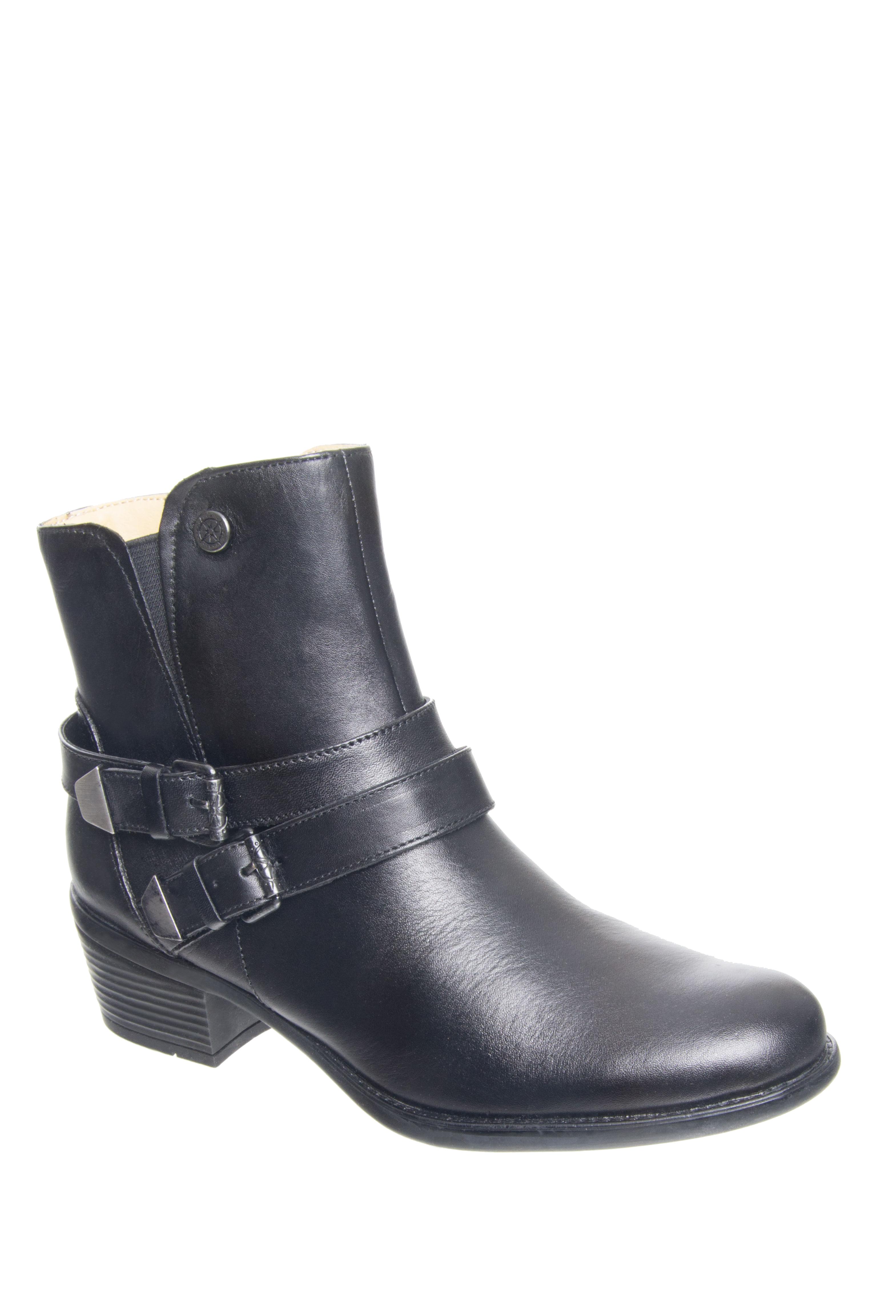 Bussola Avy Mid Heel Boots - Black