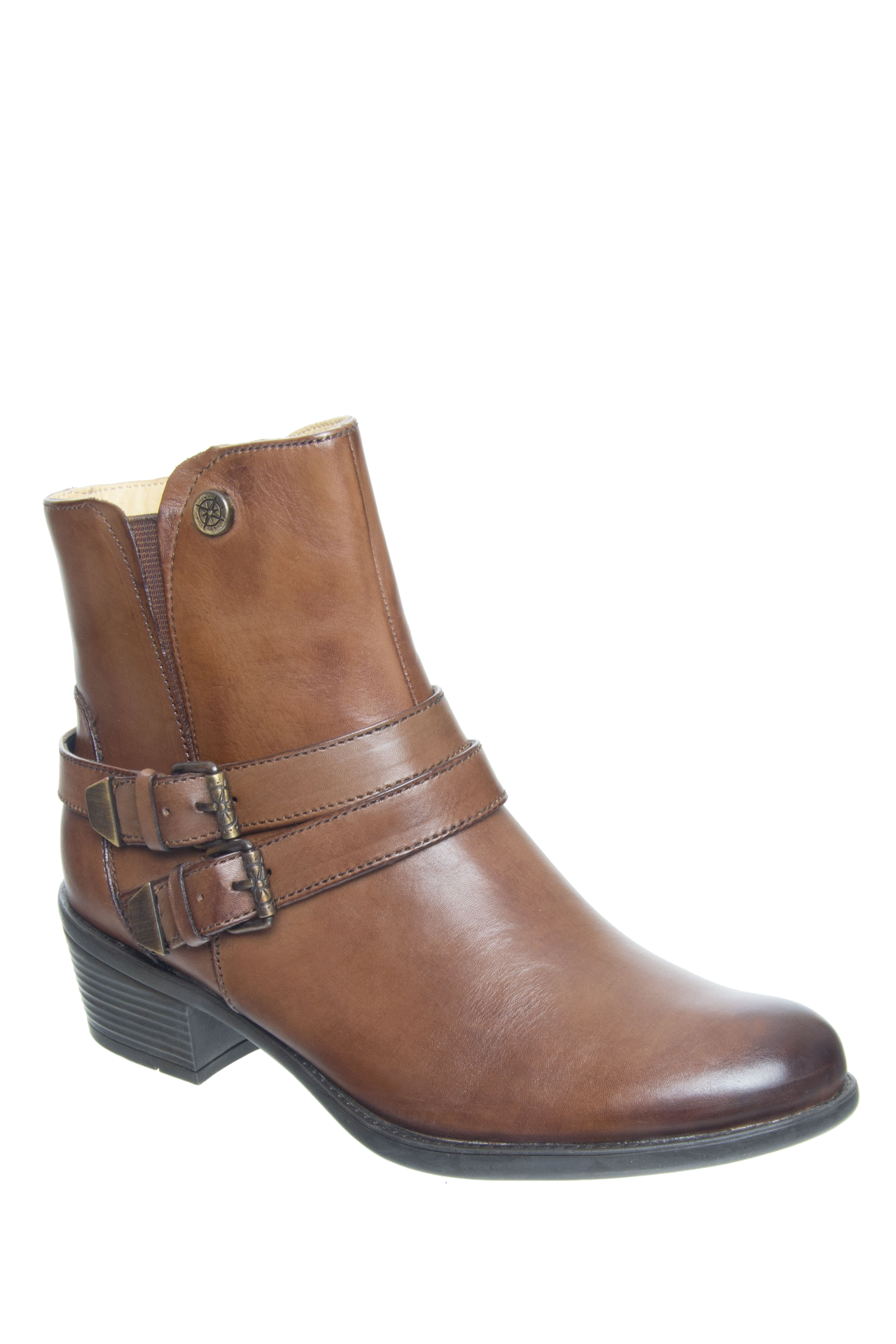 Bussola Avy Mid Heel Boots - Luggage
