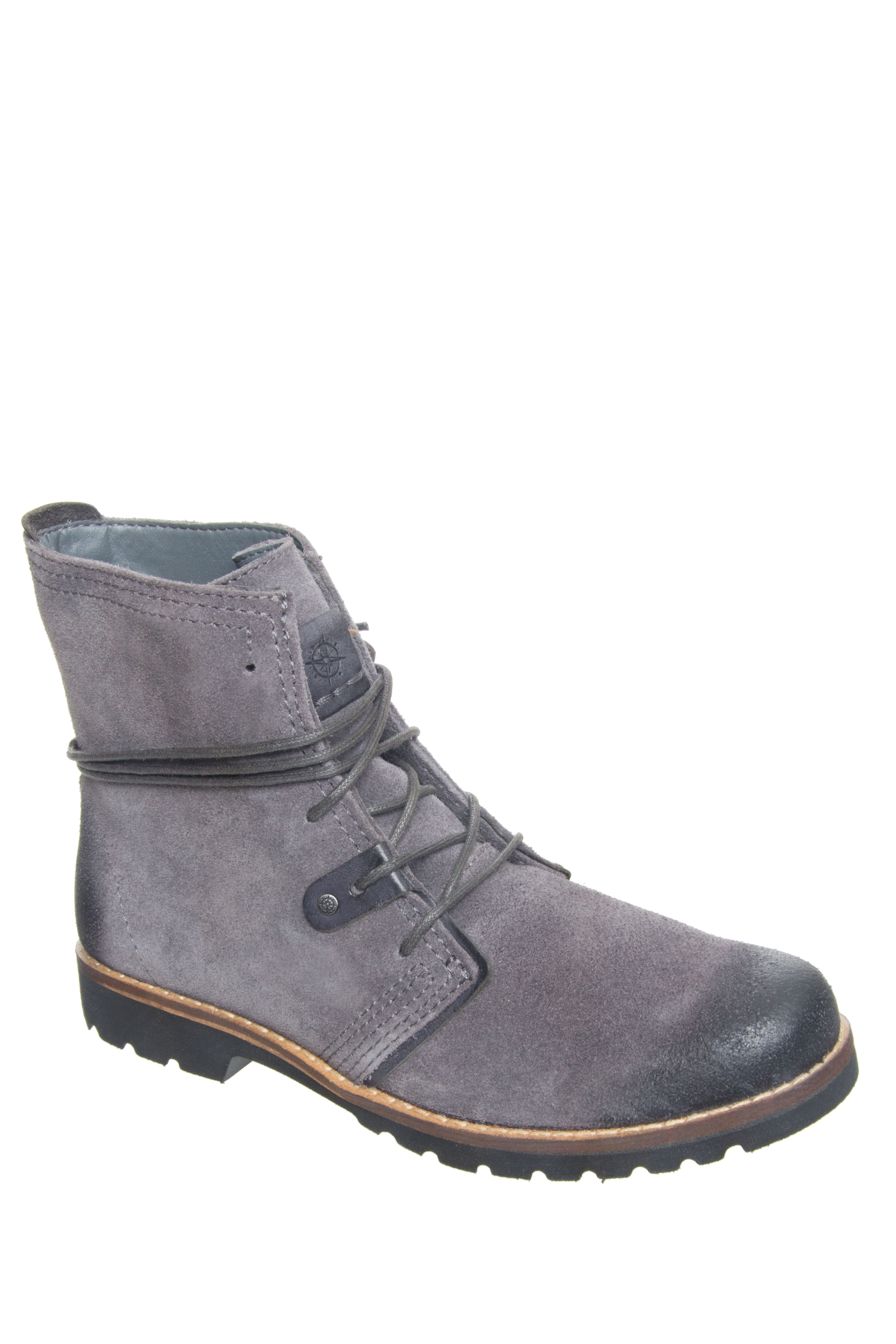 Bussola Keely Lace Up Boots - Charcoal
