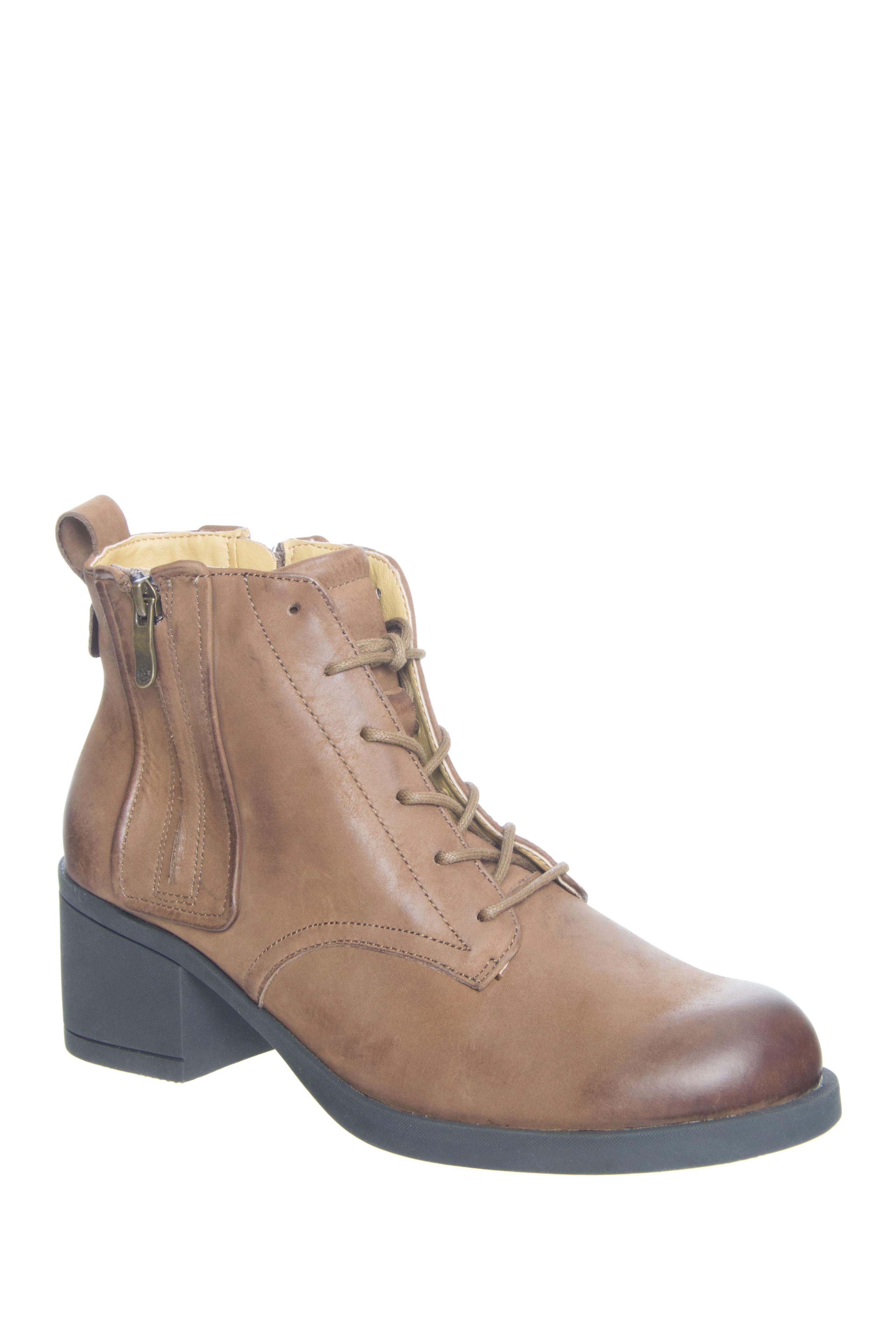Bussola Teddy Mid Heel Booties - Fossil