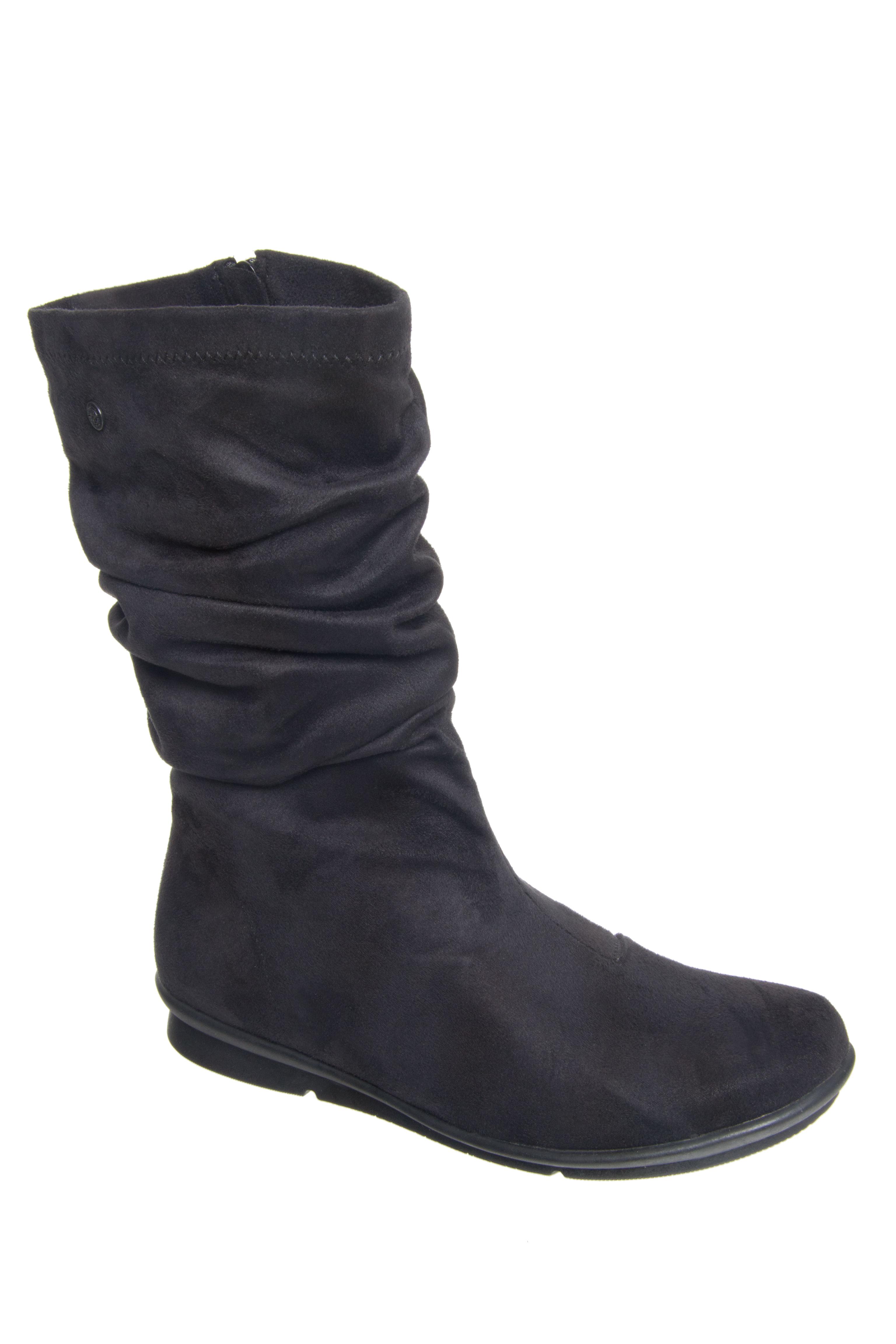 Bussola Cassy Mid Heel Boots - Black