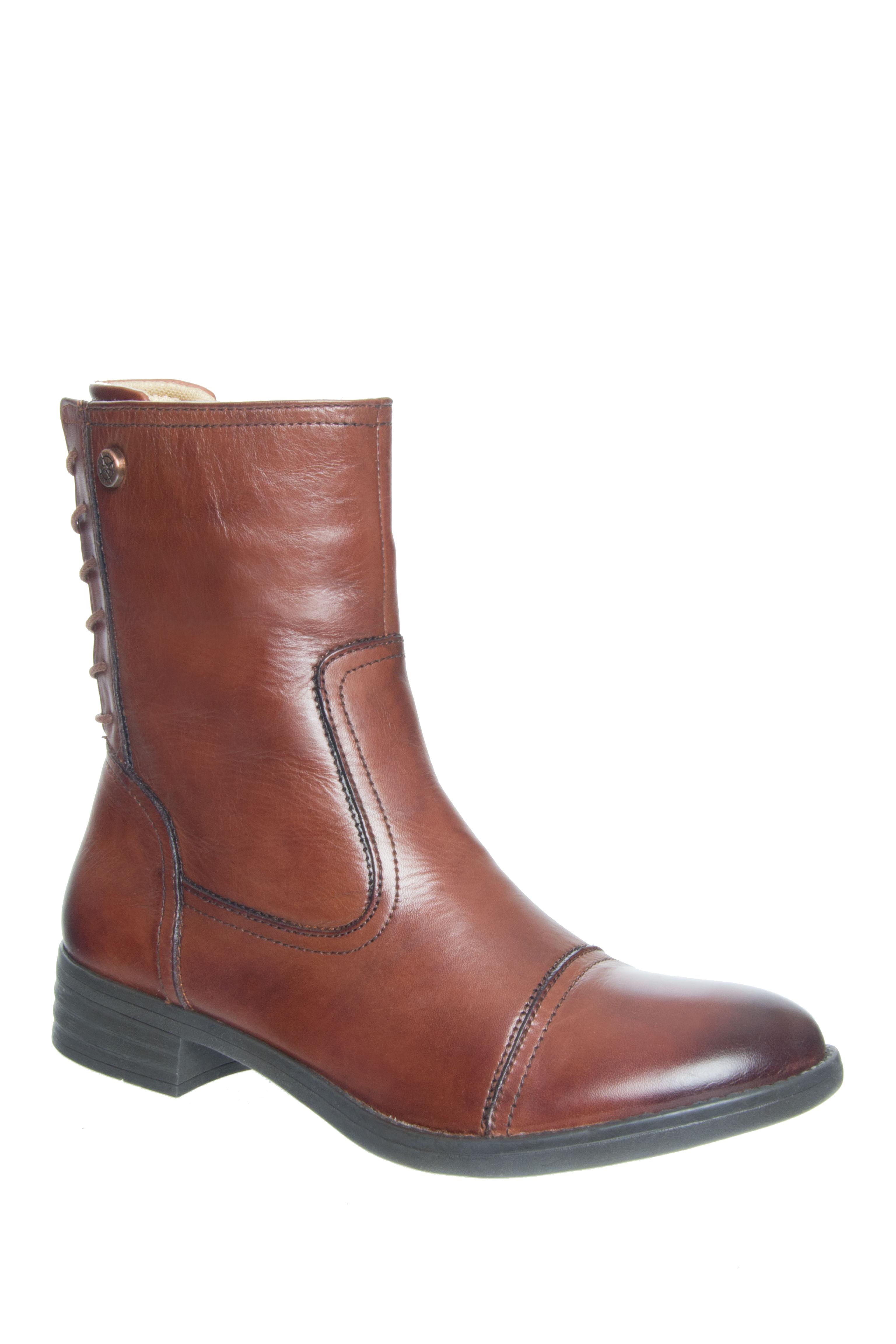 Bussola Tamara Low Heel Boots - Russet