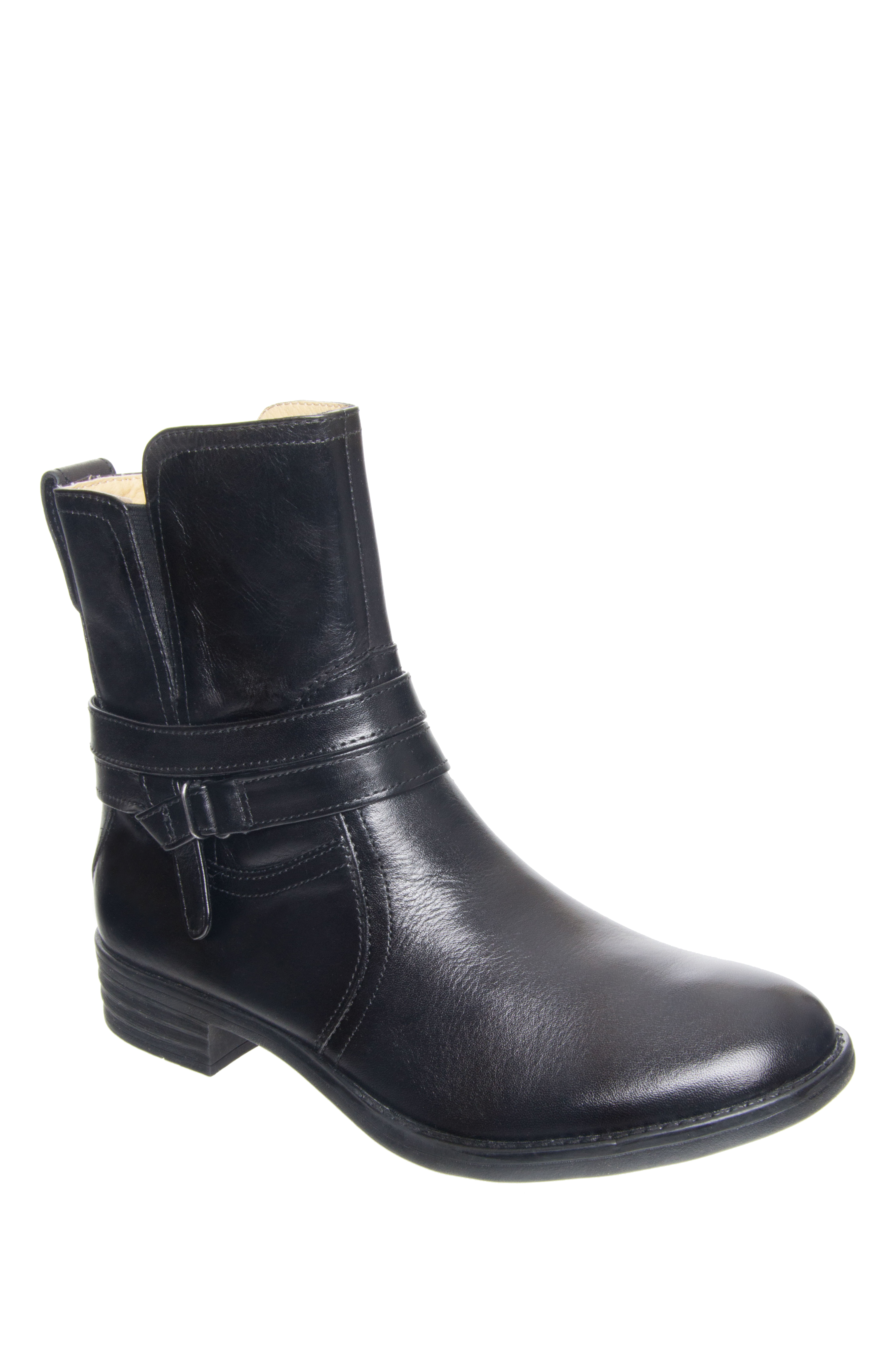 Bussola Tania Low Heel Boots - Black